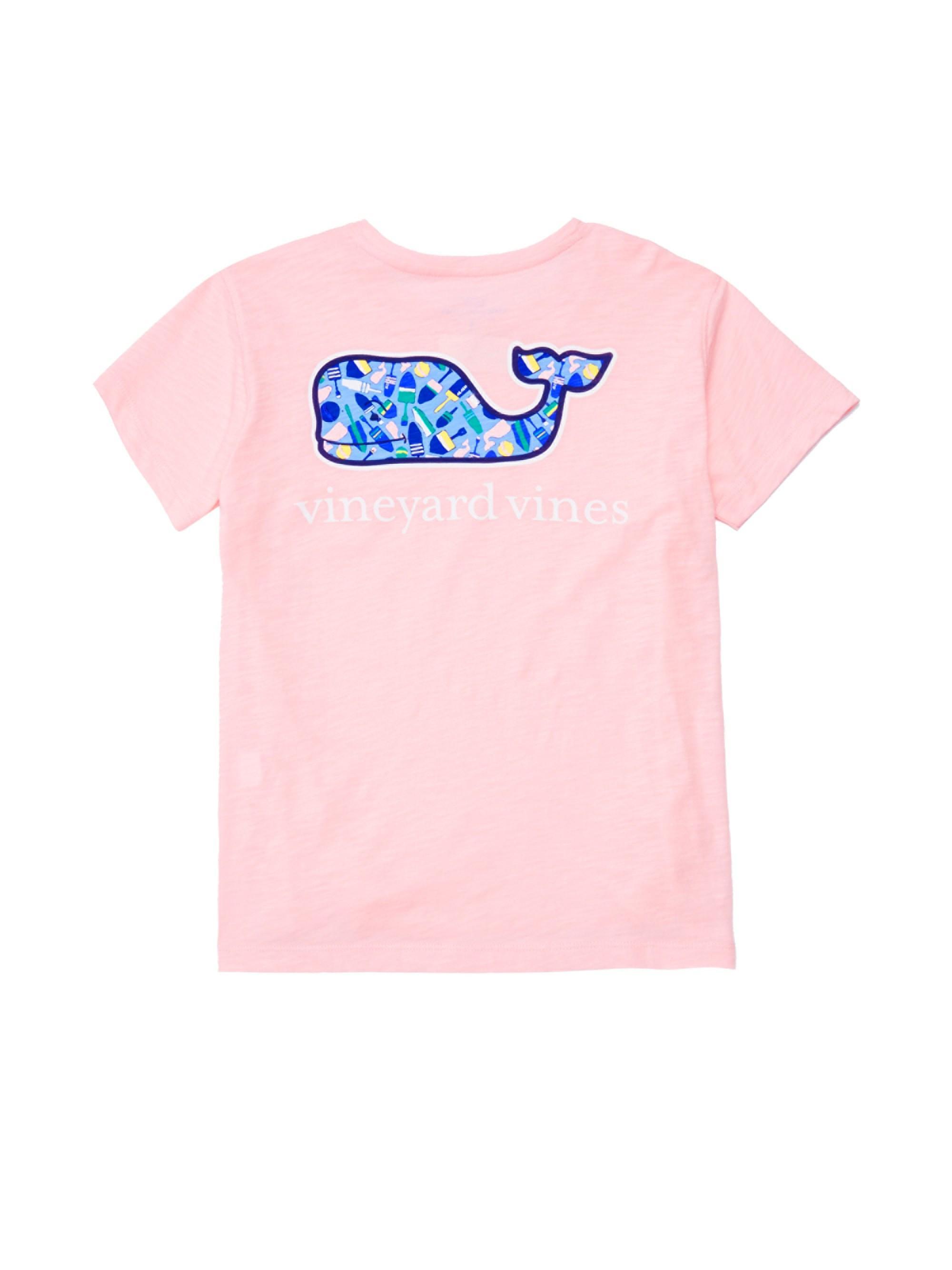 ee4b8d45 Vineyard Vines Little Girl's & Girl's Short Sleeve Whale T-shirt ...
