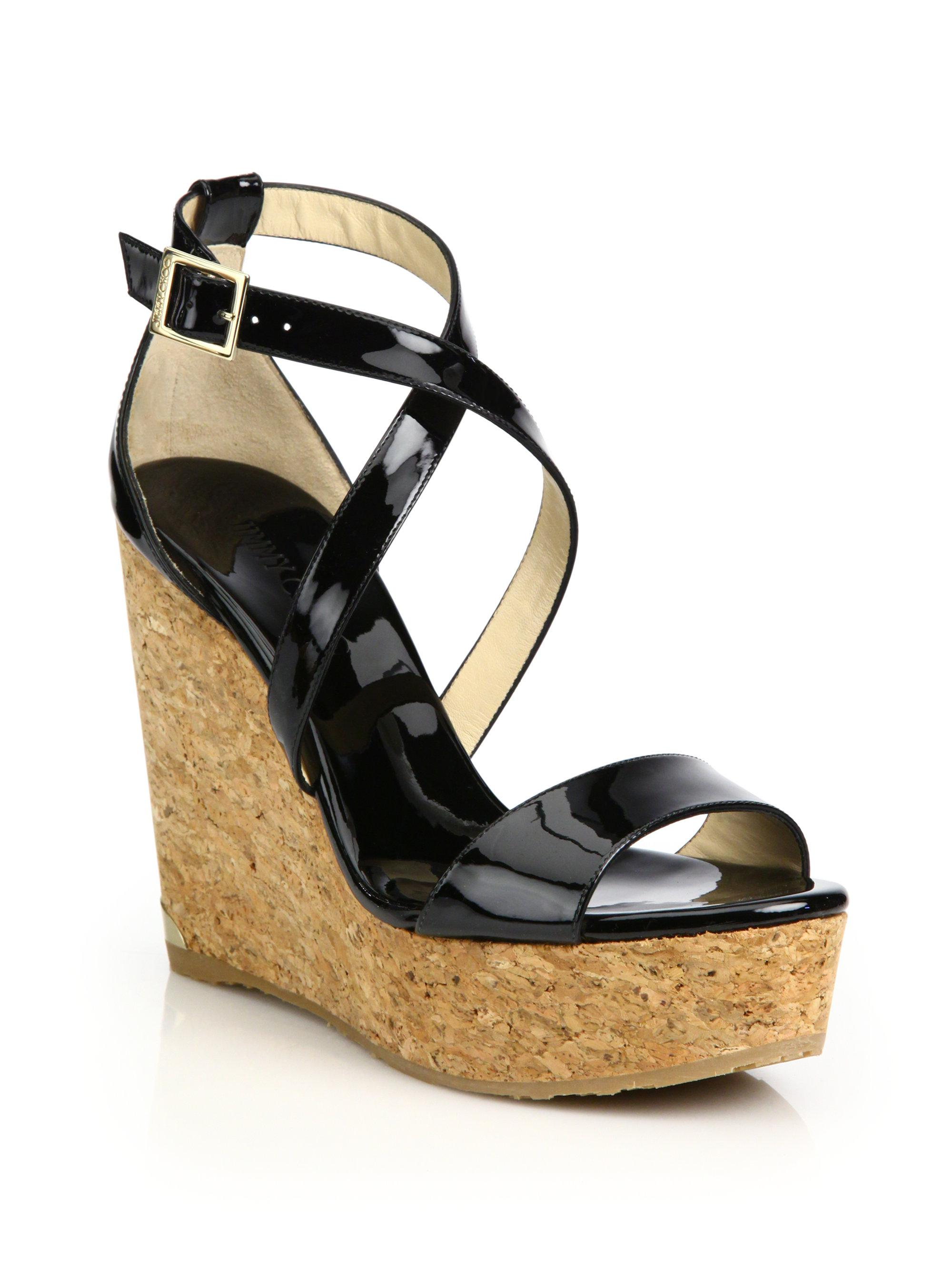 Jimmy Choo Cork Platform Wedge Sandals lowest price very cheap price 2015 sale online L7O9yzhz1