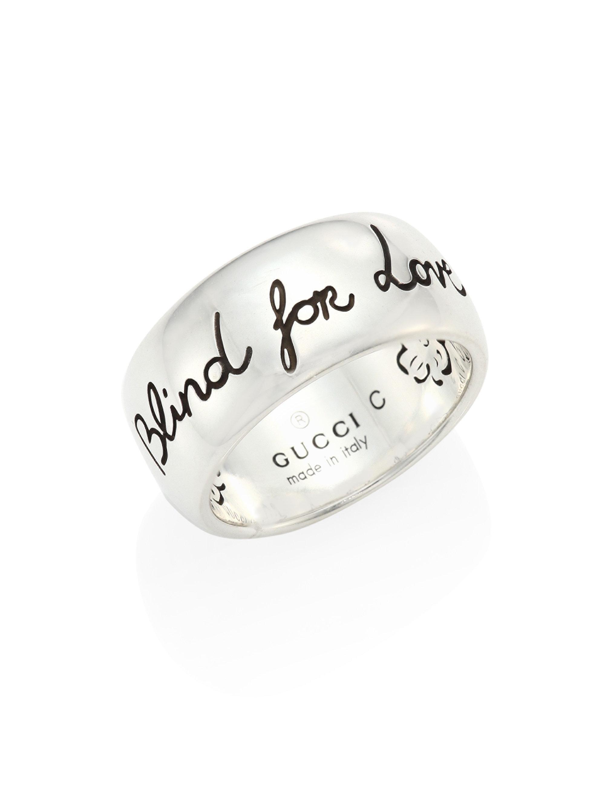 3a0c8ddc5 Gucci Blind For Love Sterling Silver Ring in Metallic - Lyst