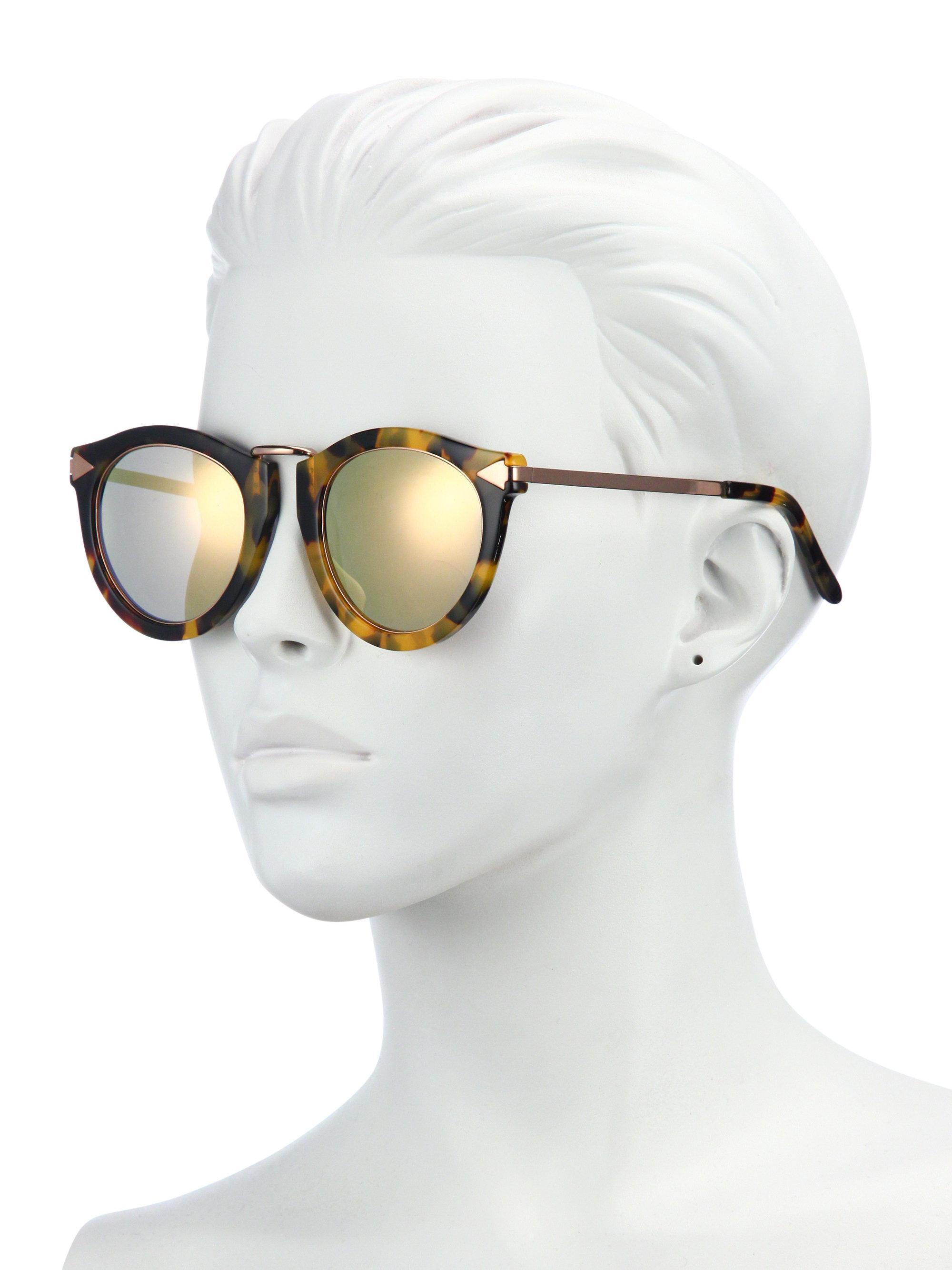 16b3e2d45c56 Karen Walker - Multicolor Superstars Harvest Mirrored Round Sunglasses -  Lyst. View fullscreen