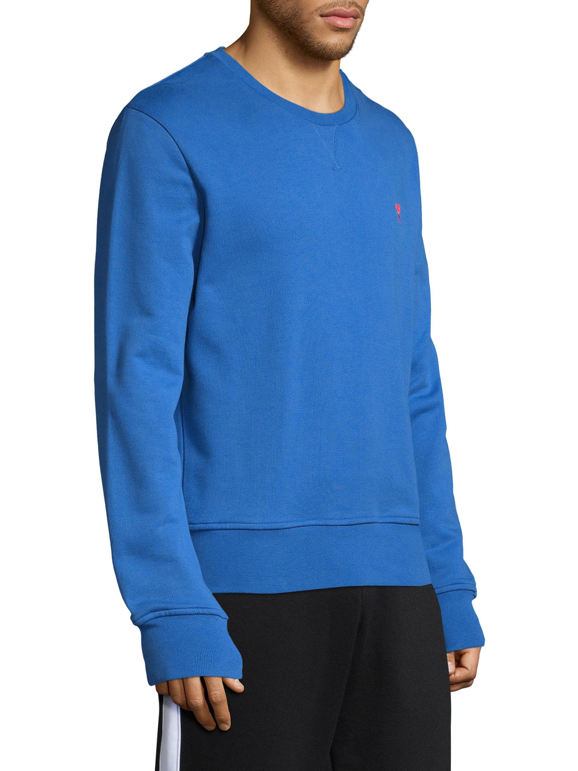9455cb922c8 Lyst - AMI Heart Crewneck Sweatshirt in Blue for Men