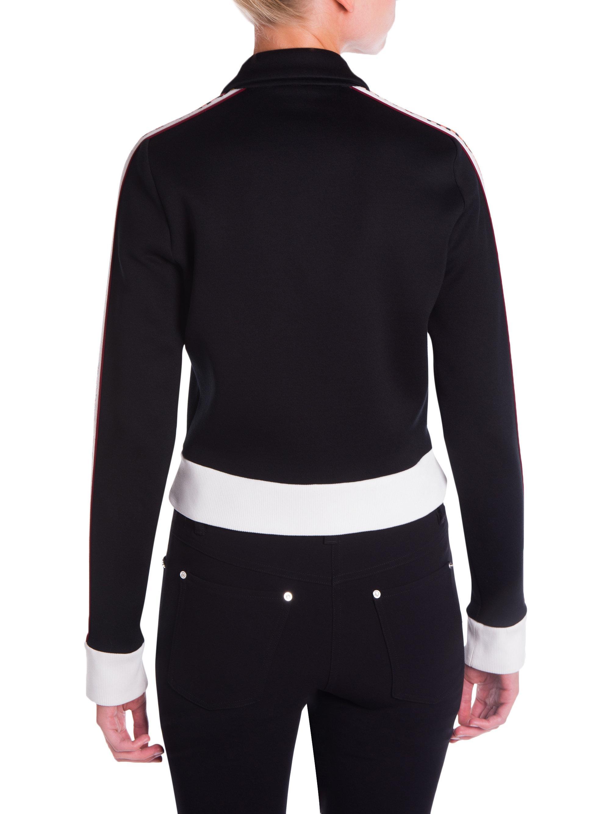 6f3f1213b149 Miu Miu - Black Logo Tracksuit Jersey Jacket - Lyst. View fullscreen