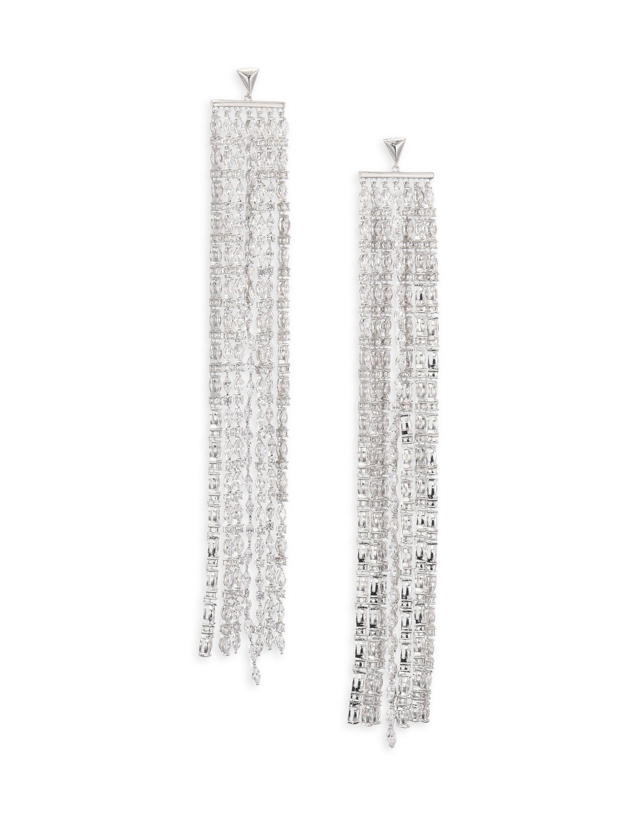 Fallon Marquis Crystal Waterfall Earrings ISaglU