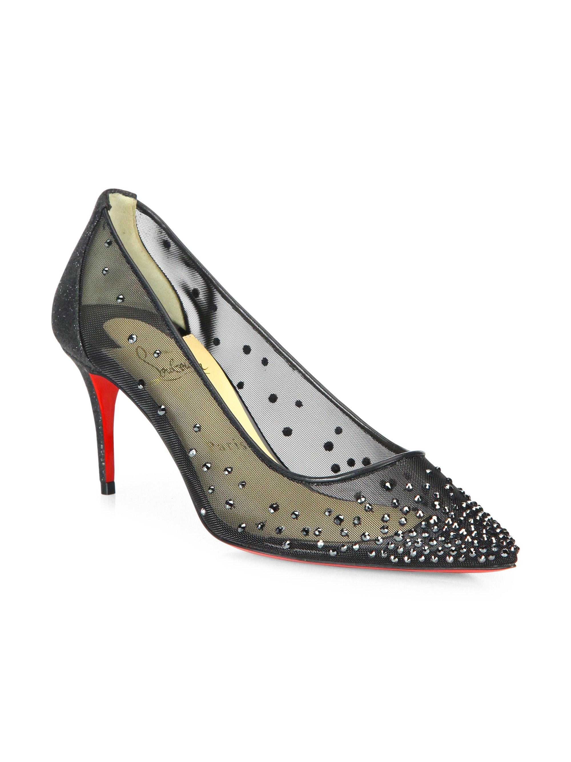 61c9932c4af3 Christian Louboutin Women s Follies Strass 70 Illusion Leather Pumps ...