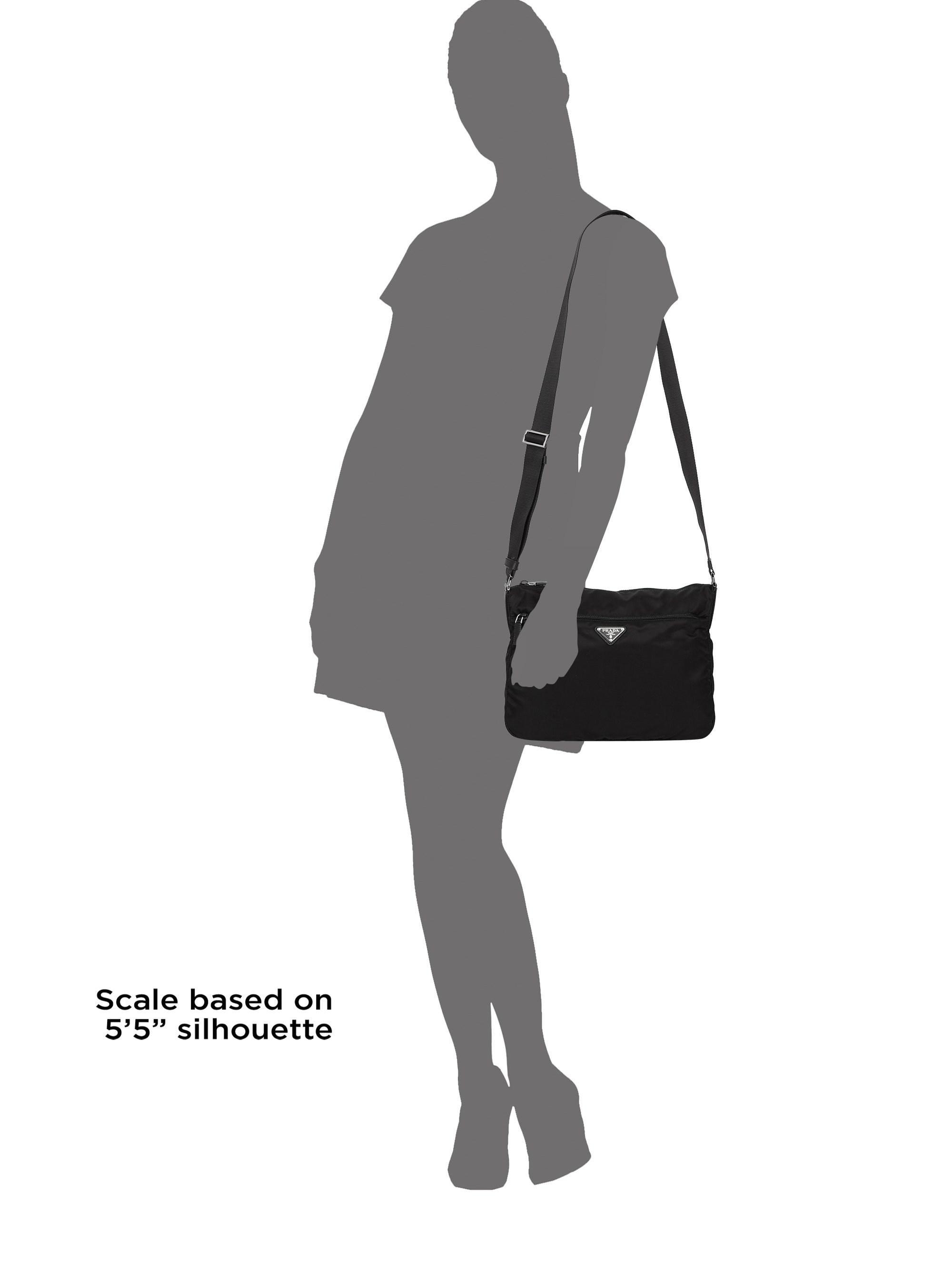 a9fdc25c73e200 Prada Women's Large Nylon Crossbody Bag - Black in Black - Lyst