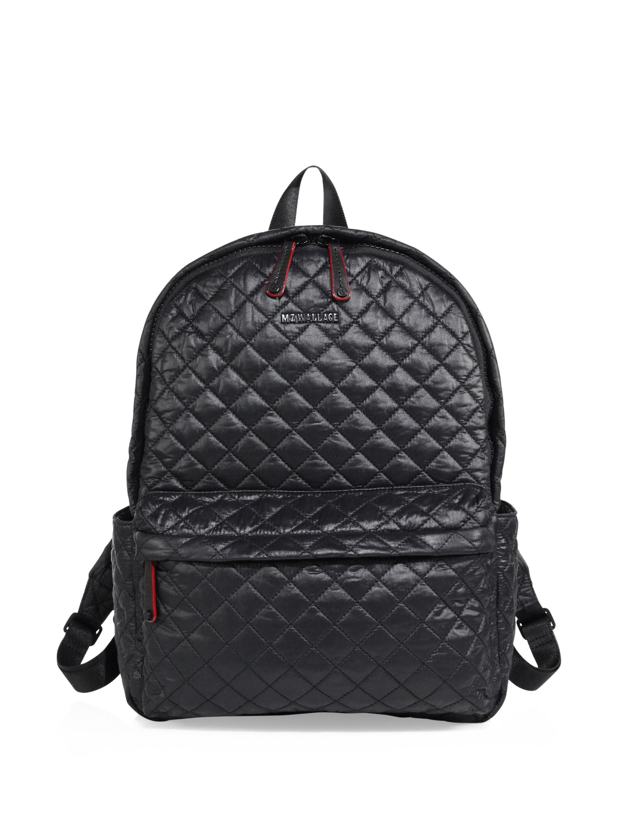 7975a029e009 Mz Wallace Oxford Small Quilted Nylon Backpack in Black - Lyst