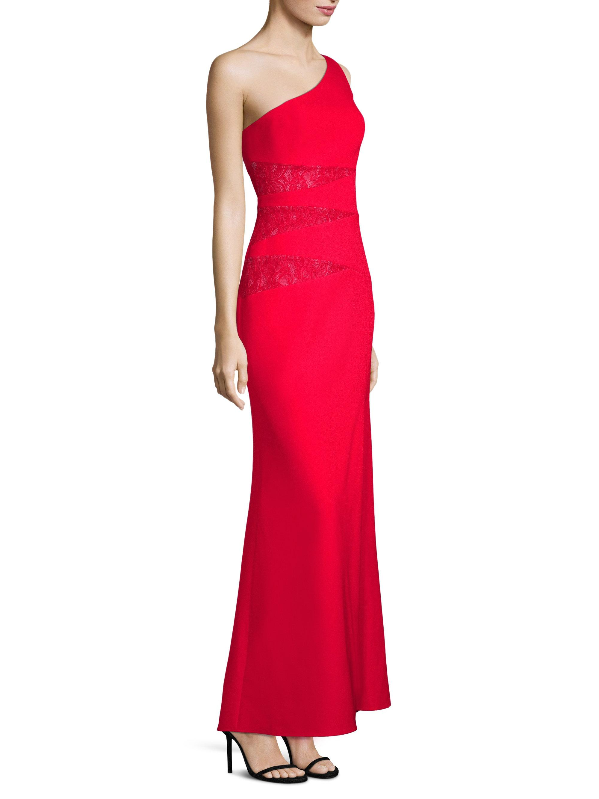One Sleeve Red Evening Gown BCBG – Dresses for Woman