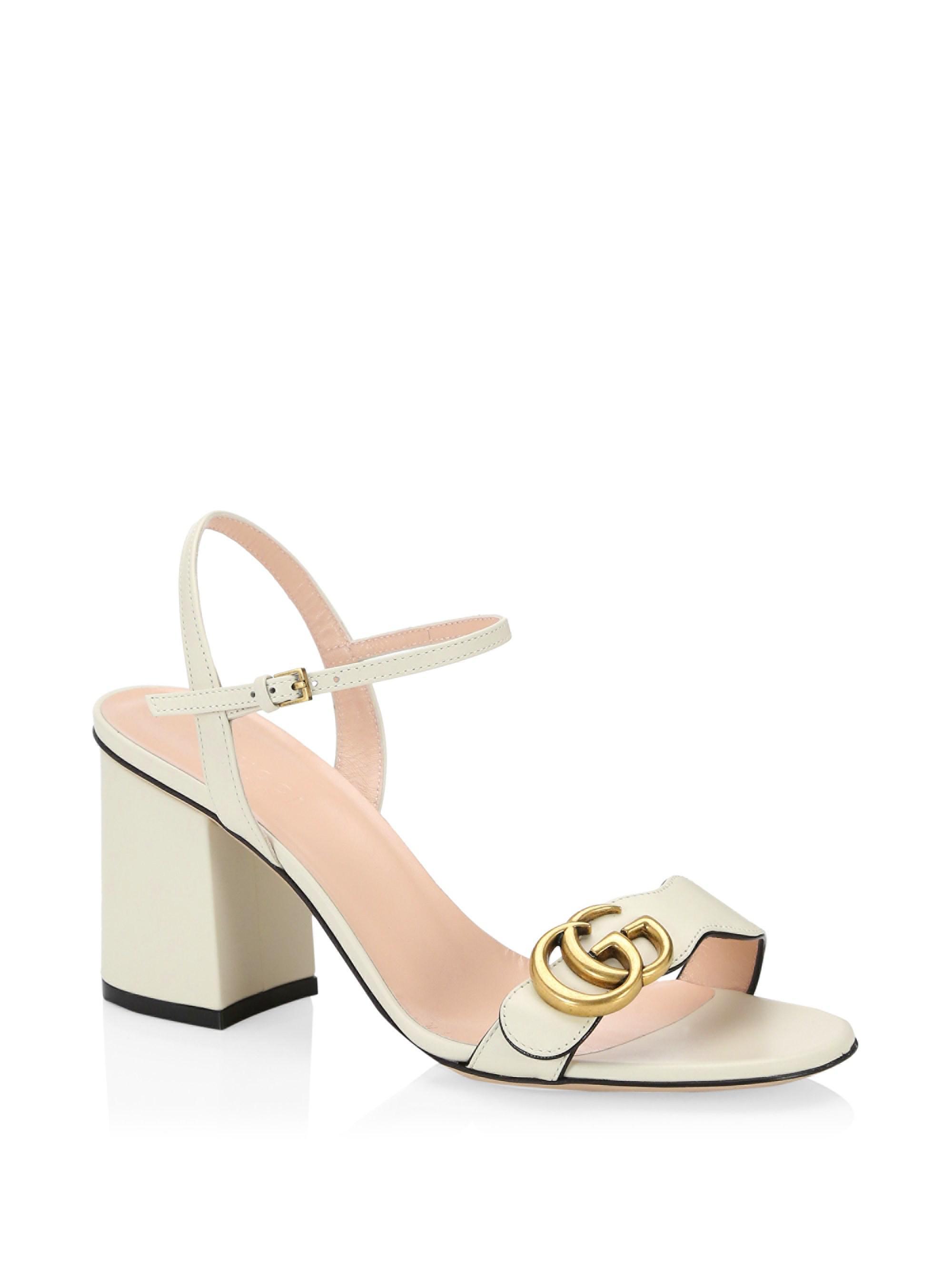 3b9e92ca963 Gucci. Women s Marmont GG Ankle-strap Sandals