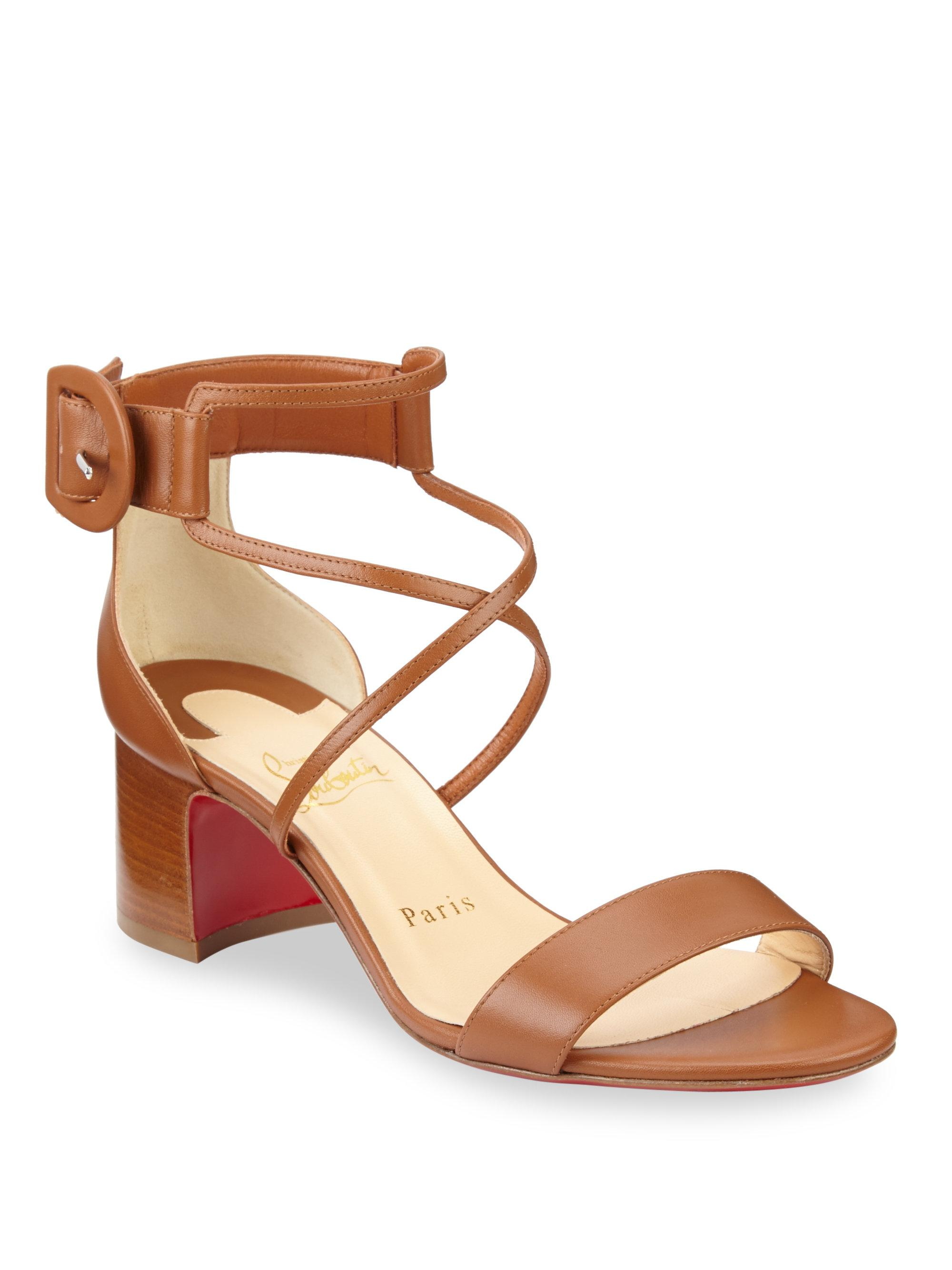 Womens Choca Patent Leather Sandals Christian Louboutin HwpHbso