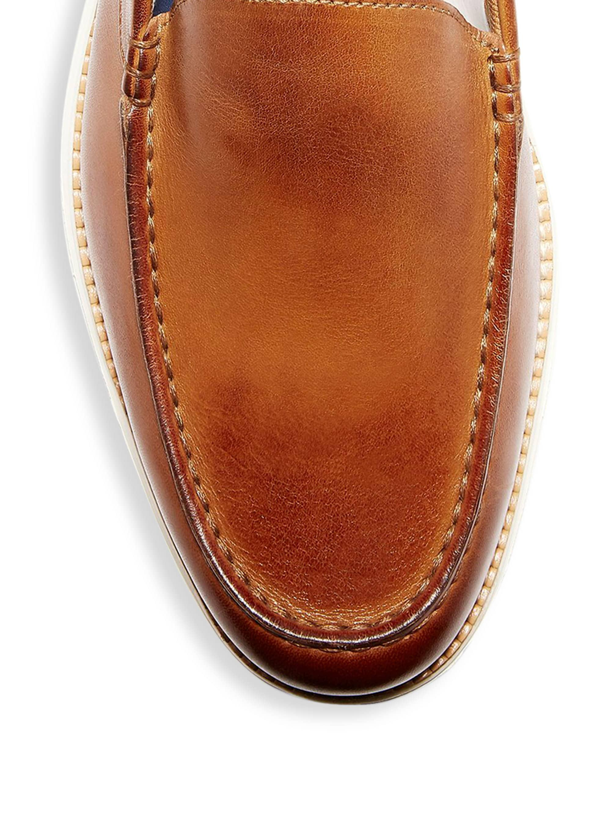 2ac1462b16 Cole Haan Men's Original Grand Venetian Leather Loafers - British Tan Ivory  in Brown for Men - Lyst