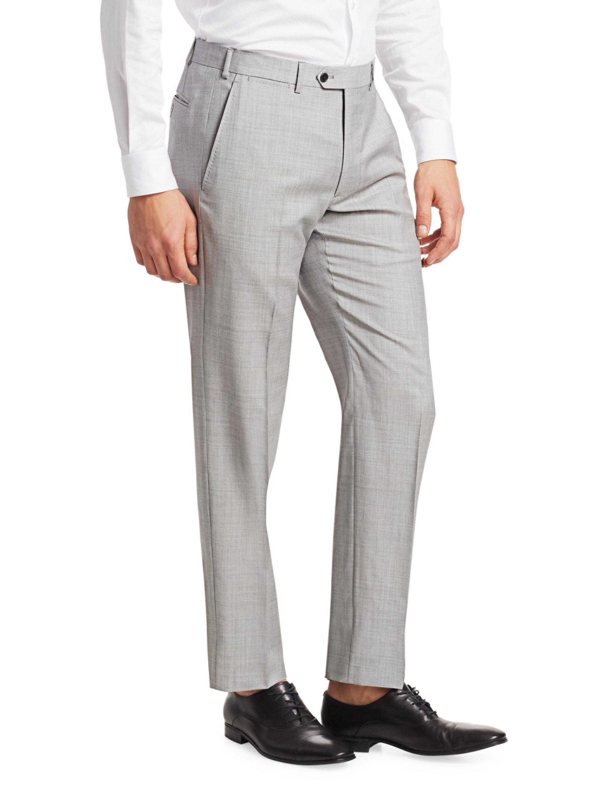 c0e70a4664b1be Lyst - Emporio Armani Men's Wool-blend Suiting Pants - Light Grey - Size 48  (32) R in Gray for Men