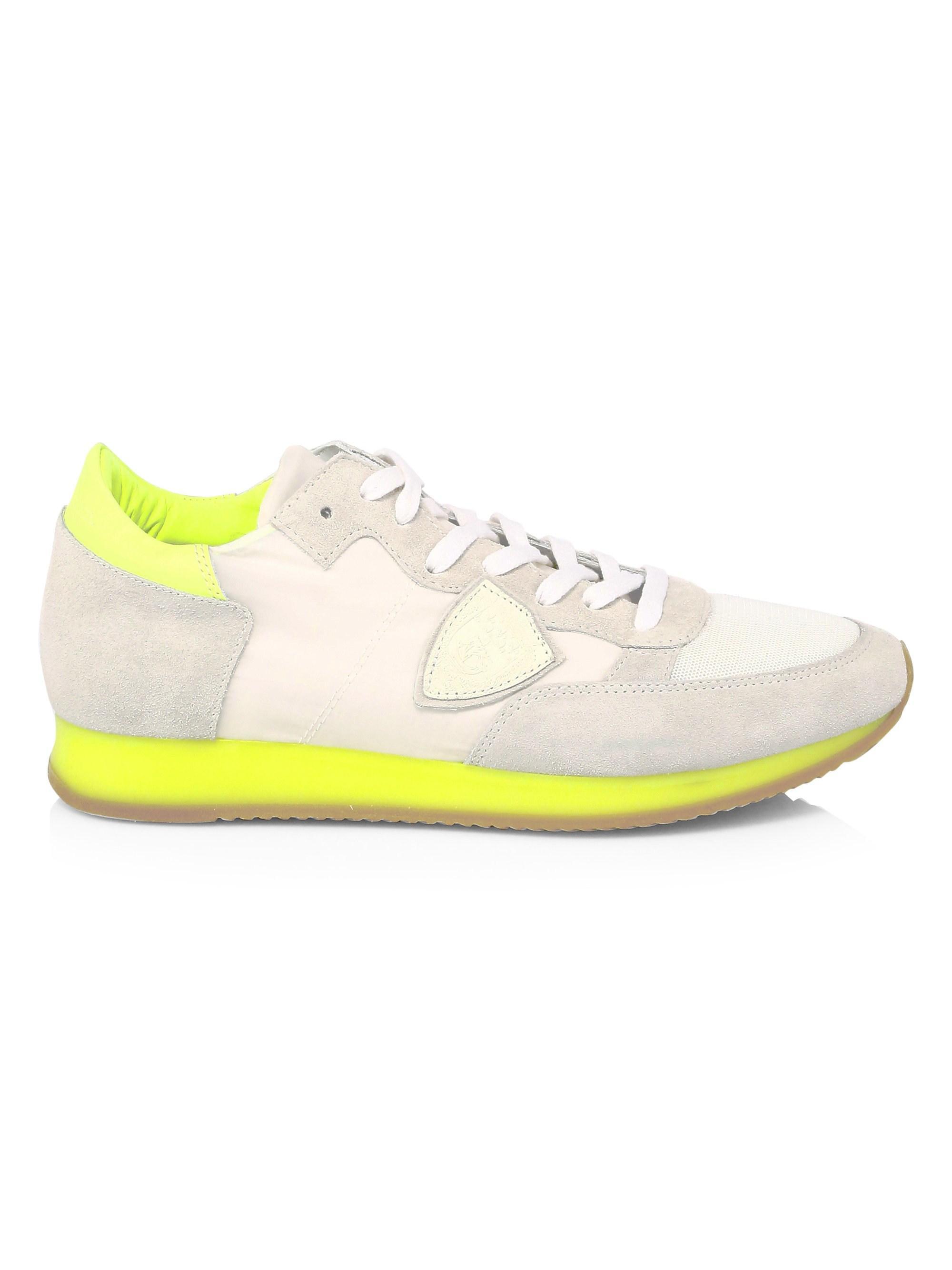 5639b27e89f Philippe model white yellow mens tropez neon platform wedge sneakers white  yellow size jpg 2000x2667 Neon