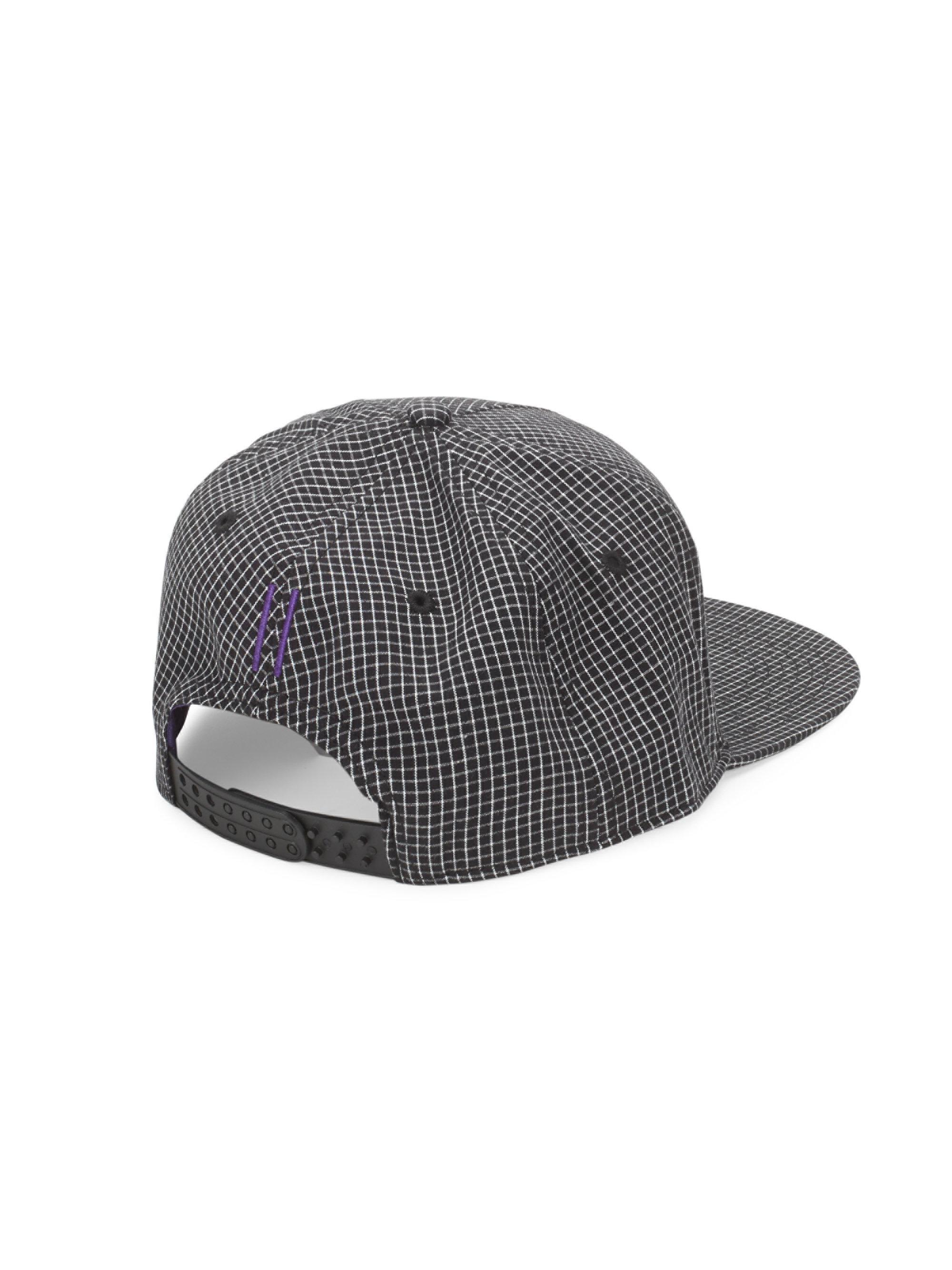 Lyst - Gents Chairman Check-print Baseball Cap in Black for Men 93c5508568f