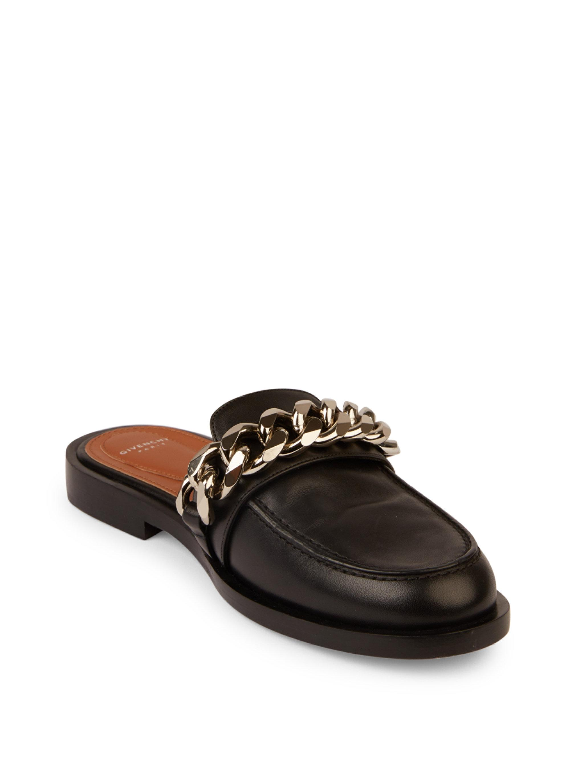 Black Chain Line Loafers Givenchy JrZaT