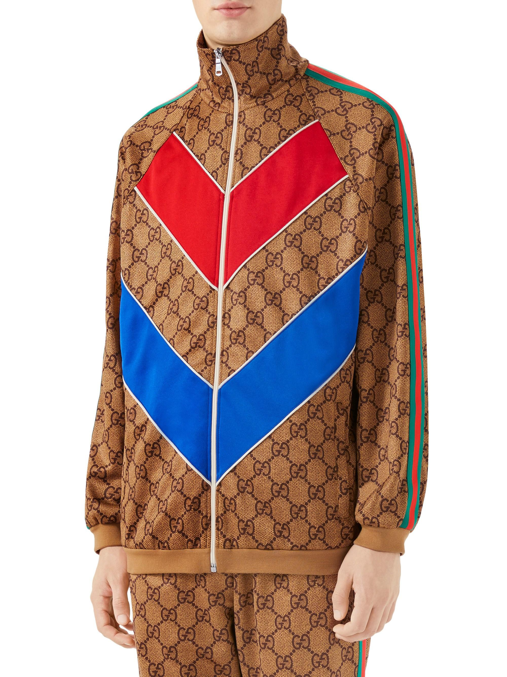 fad147dc0 Gucci GG Technical Logo Jersey Jacket for Men - Lyst