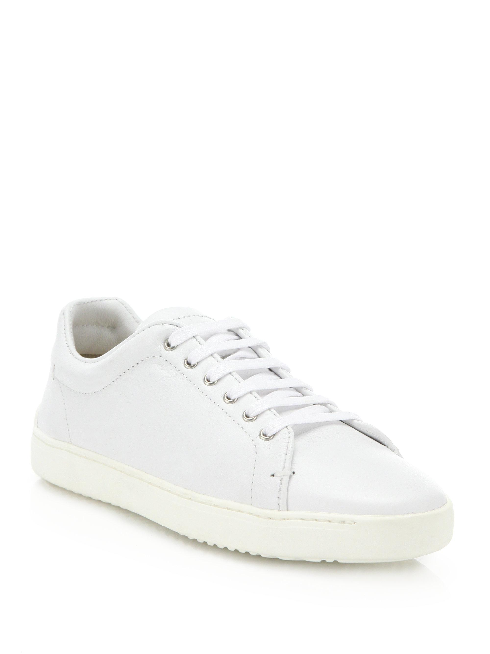 Rag & Bone. Women's White Kent Leather Low-top Trainers