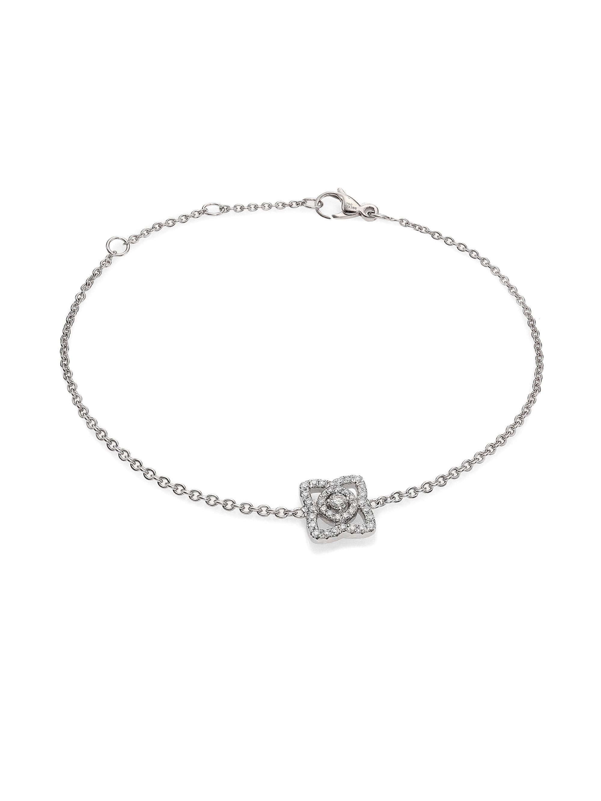 De Beers 18kt white gold Talisman diamond open bangle - Unavailable 1FUee6