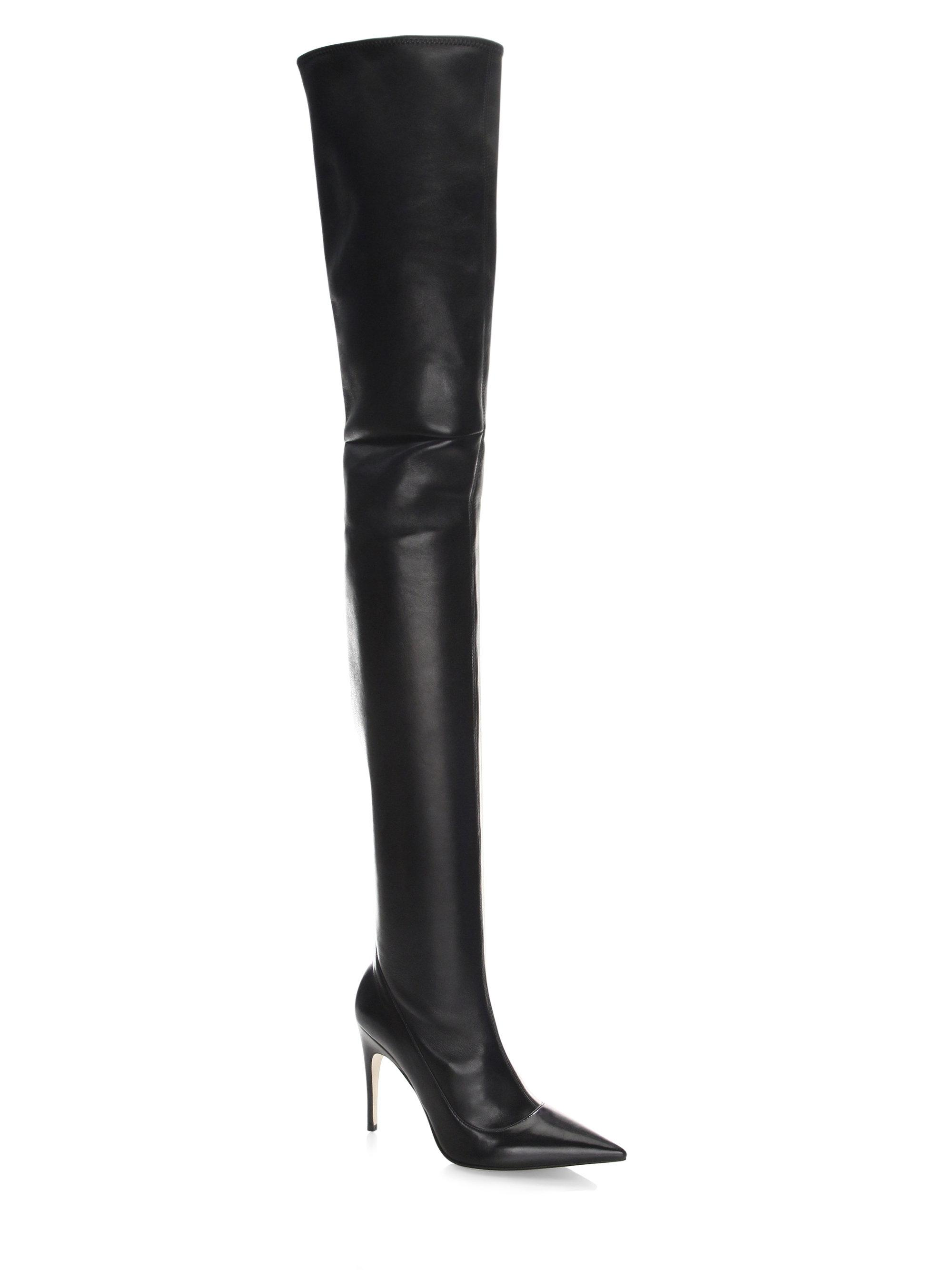 Sergio Rossi flat thigh high boots discount extremely 2Nwrx