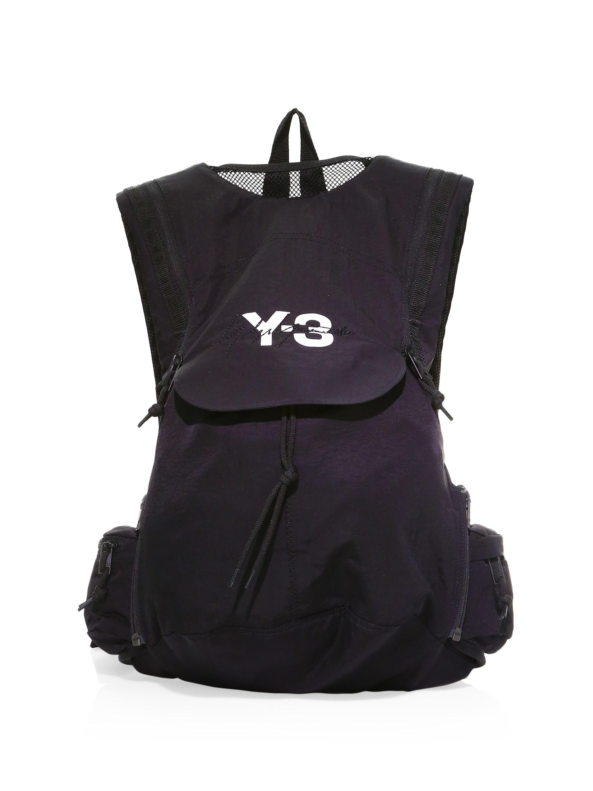 Lyst - Y-3 Running Backpack in Black for Men d082902646a70