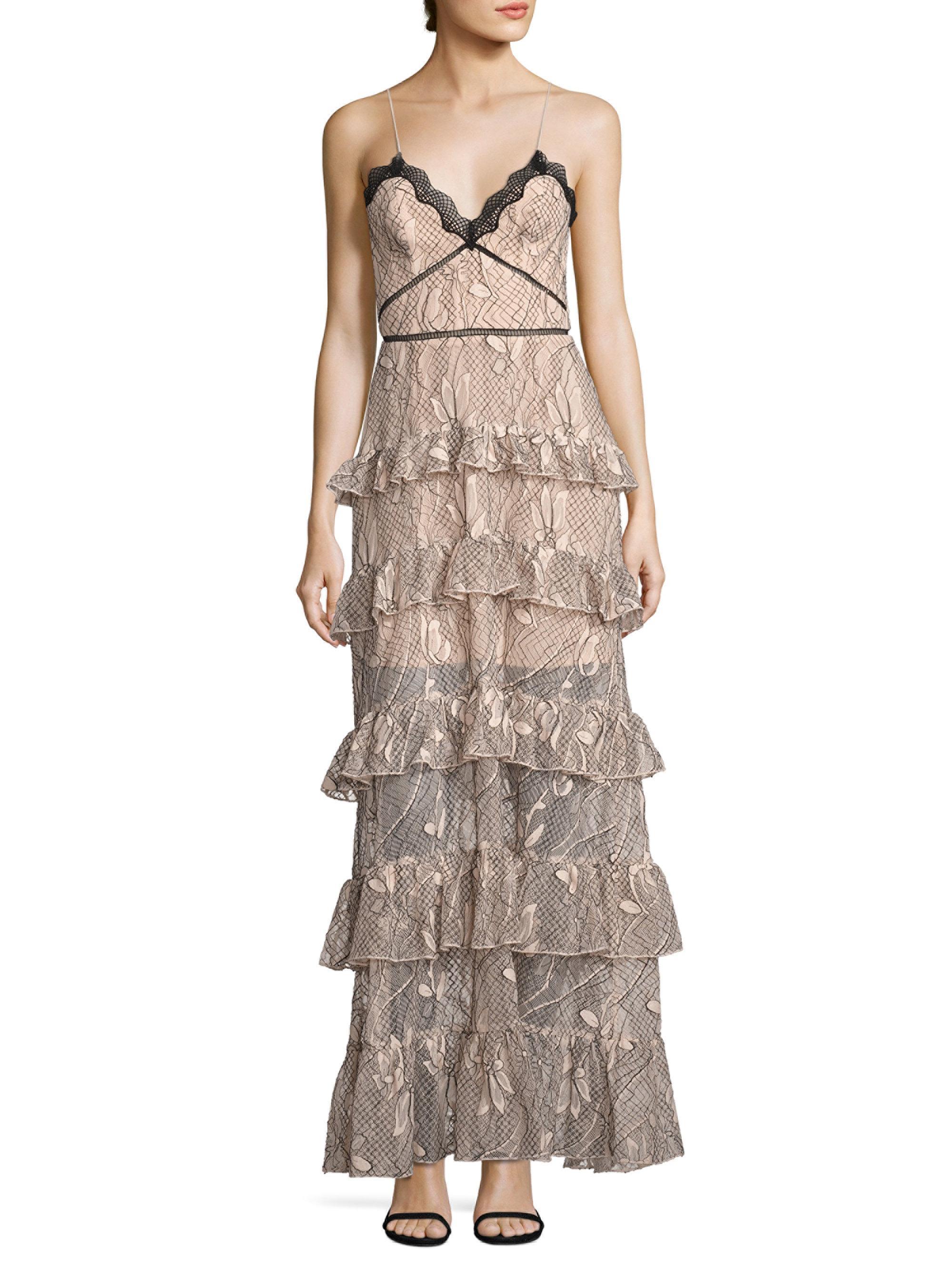 0a277855746 Nicholas Iris Lace Ruffled Gown - Lyst