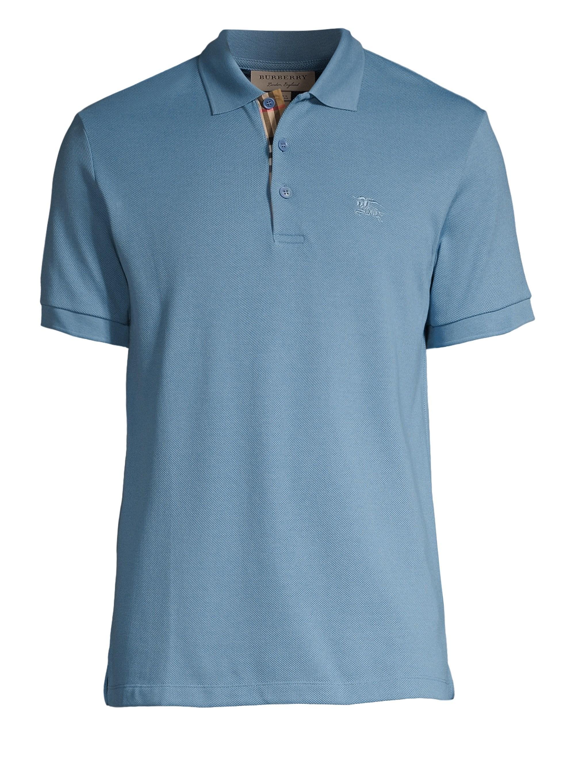 1b5bdefd Burberry - Blue Hartford Polo for Men - Lyst. View fullscreen