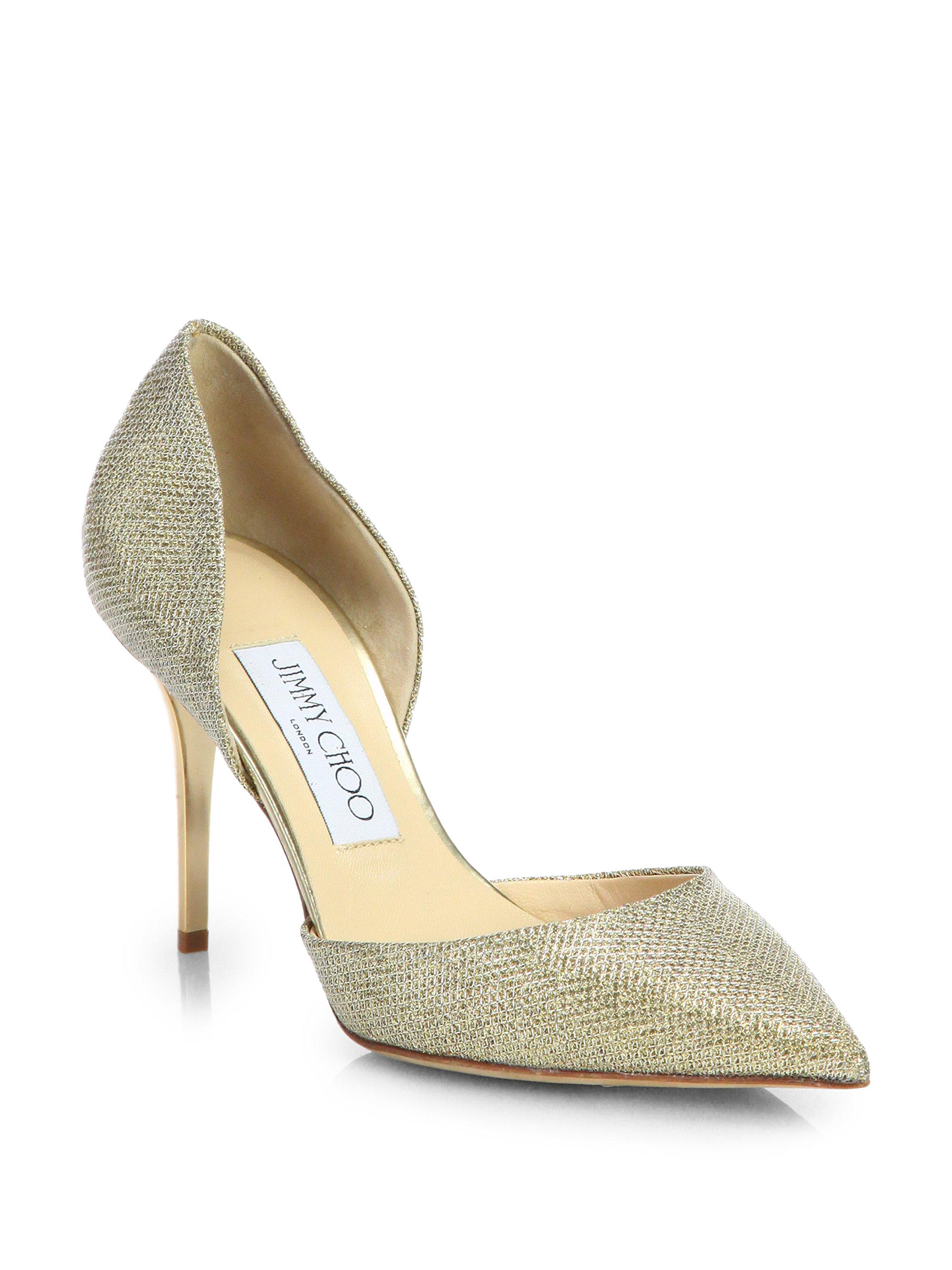 discount shopping online fashion Style sale online Jimmy Choo Glitter D'Orsay Pumps 2015 new for sale ObpDt7SV