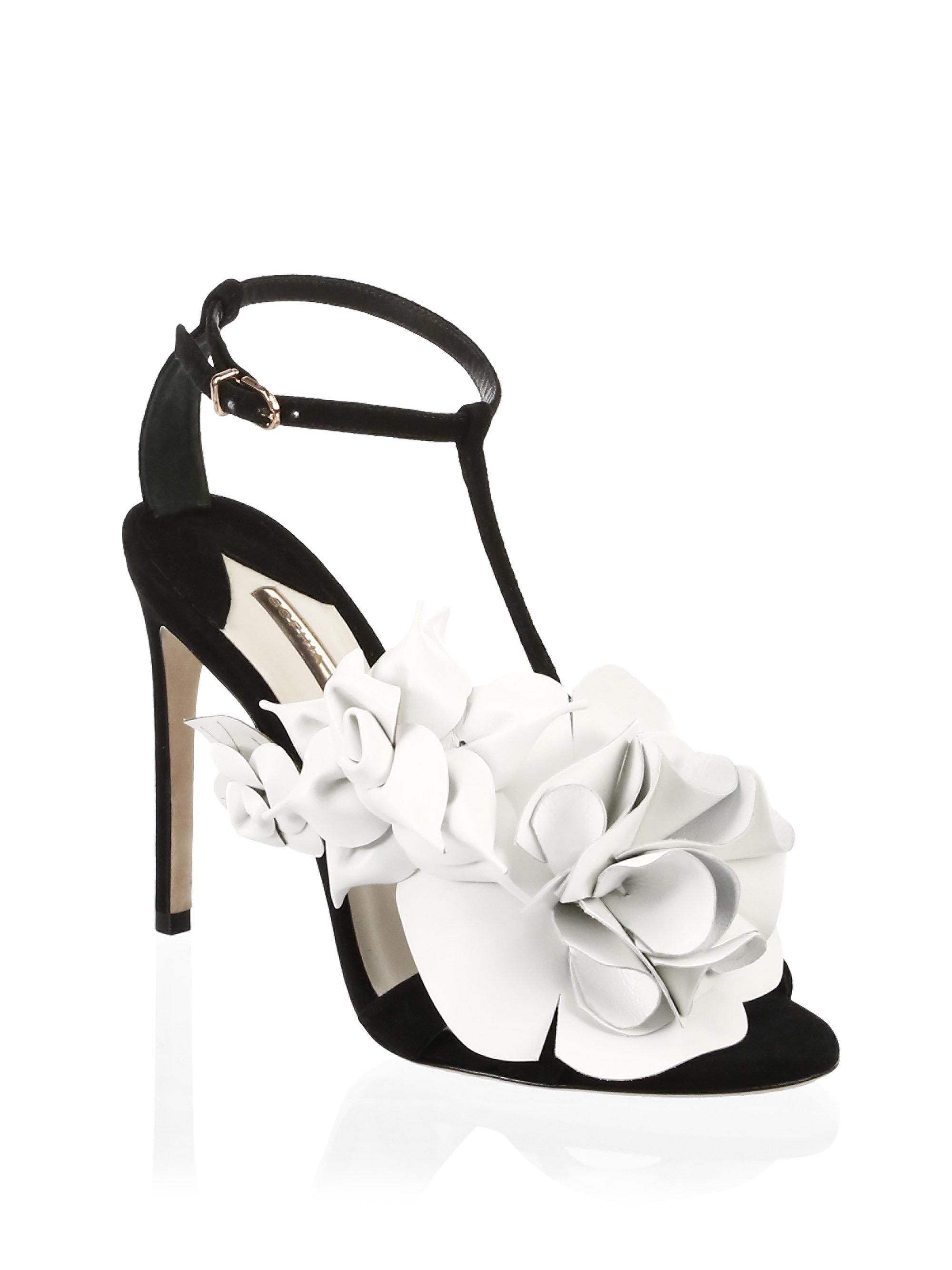 b12e25cce3cd Lyst - Sophia Webster Jumbo Lilico Suede Mid Sandals in Black