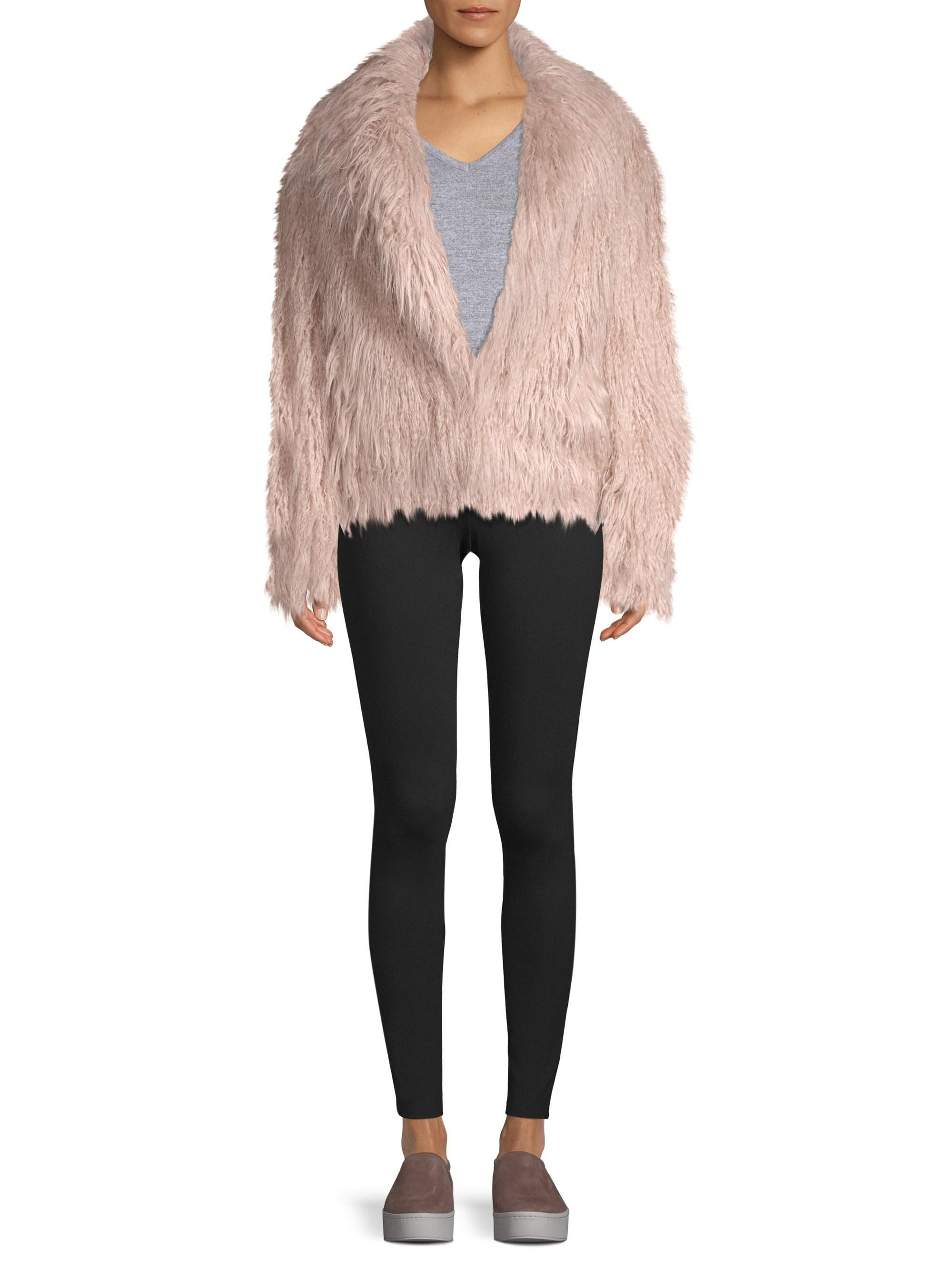 604f79dfbed Lamarque Harika Pink Shaggy Faux-fur Jacket in Pink - Lyst