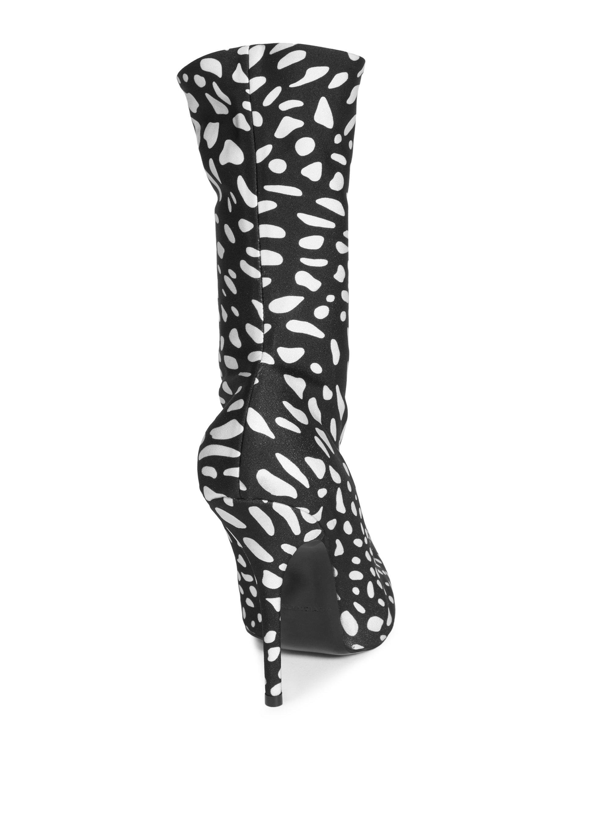 f12c2aba9952 Lyst - Balenciaga Animal-print Booties in Black