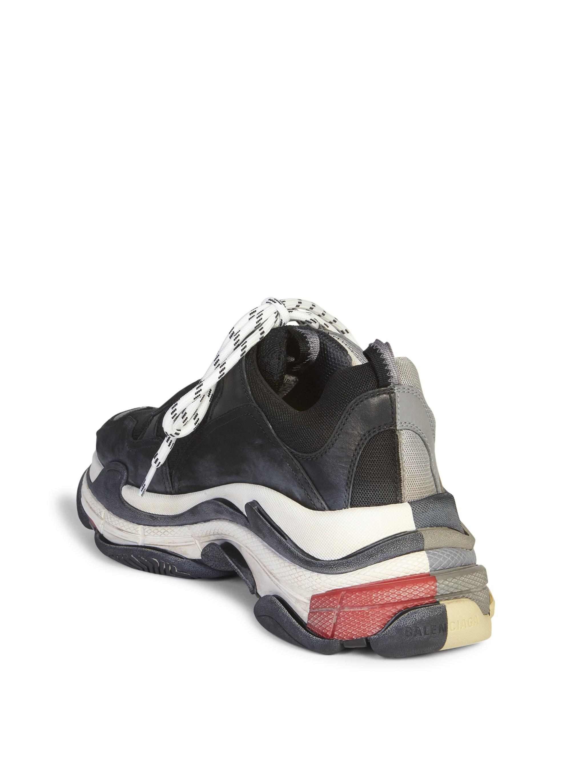 2f0d91bd00b9 Balenciaga Triple S Trainer Sneakers in Gray for Men - Save 4% - Lyst