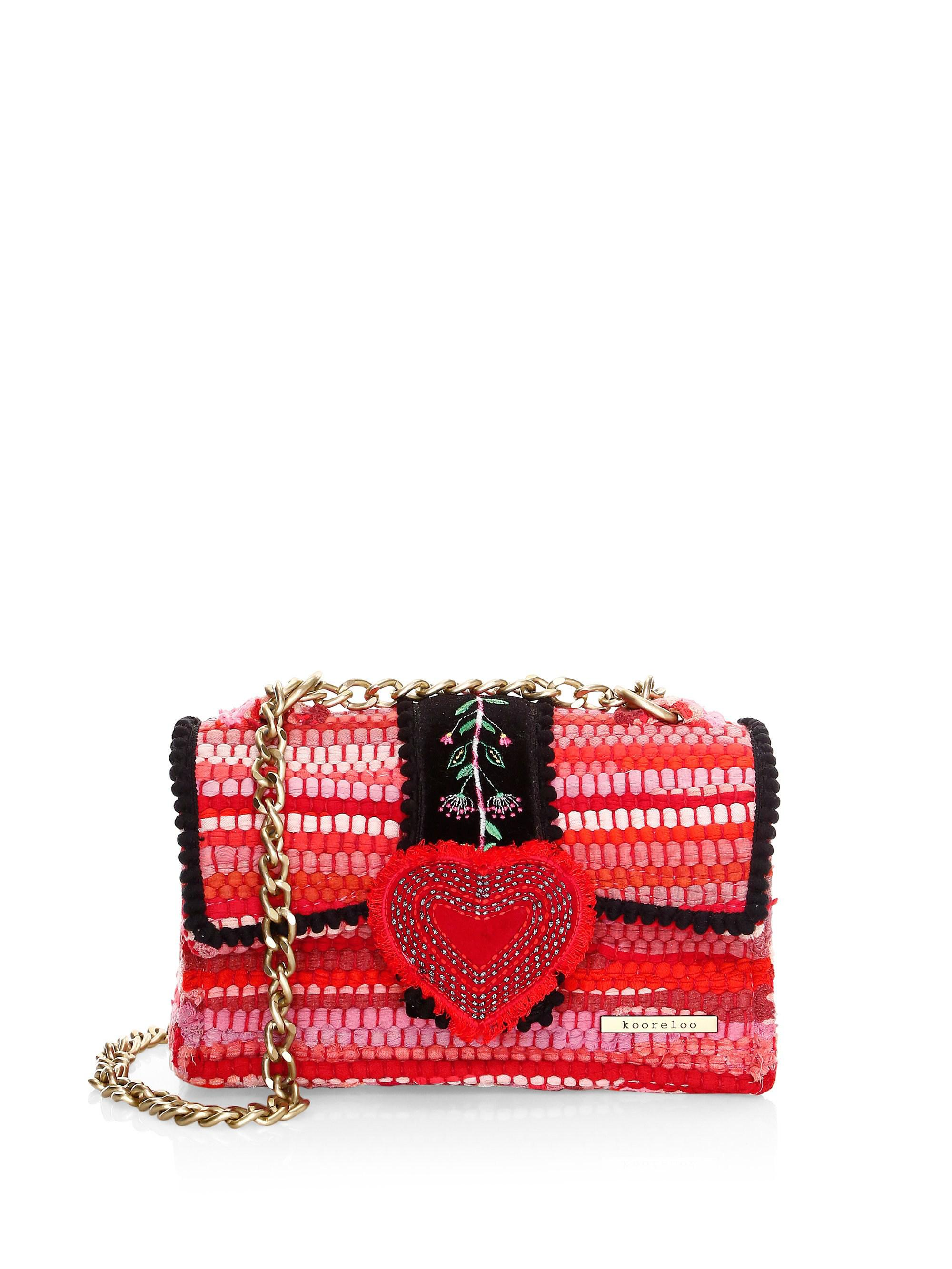 Lyst - Kooreloo Divine Petite Embroidered   Woven Chain Crossbody Bag 295fd86d7b25d