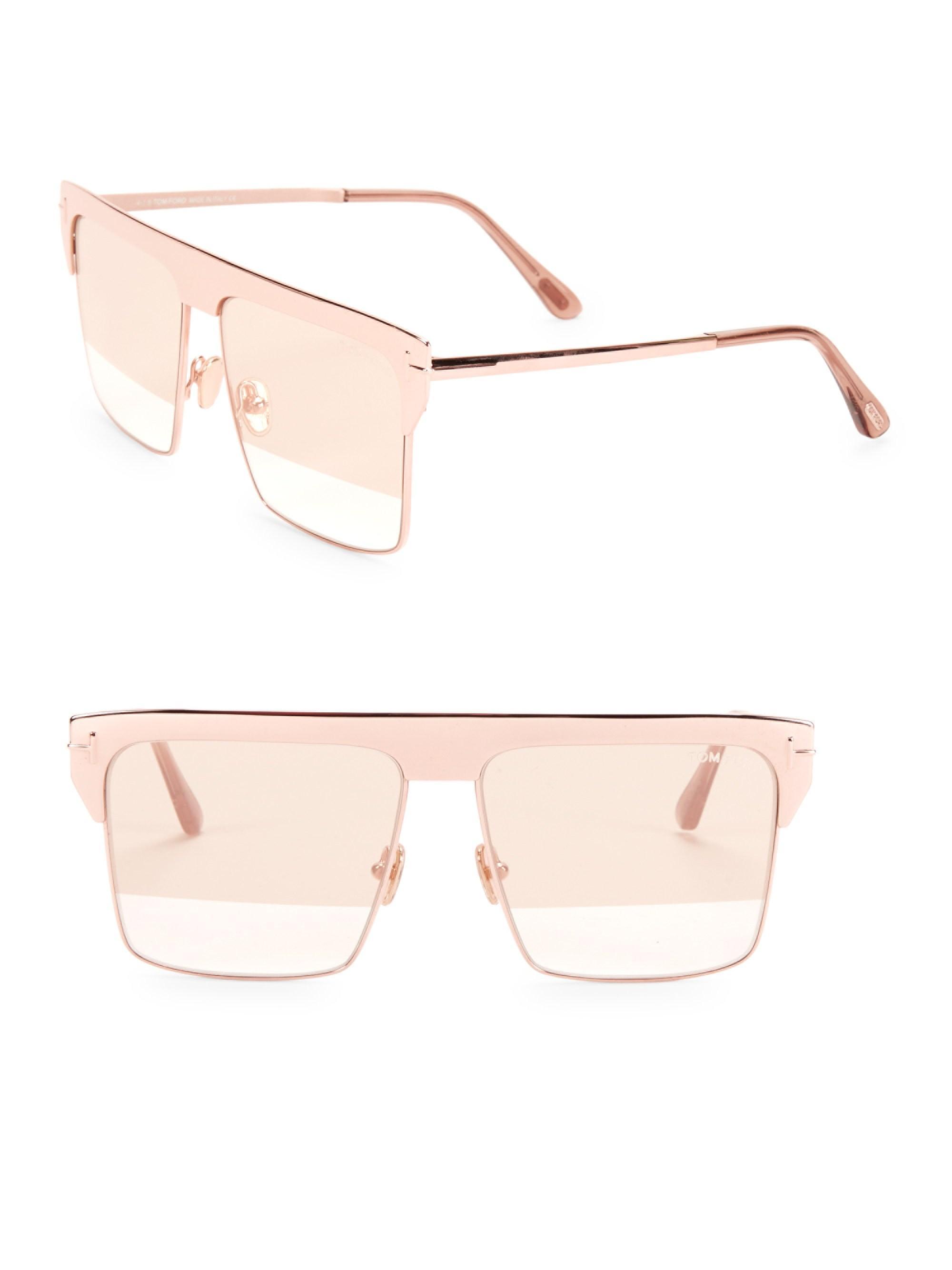 229c74ec6e1 Tom Ford. Women s West 59mm Square Rose Goldplated Sunglasses