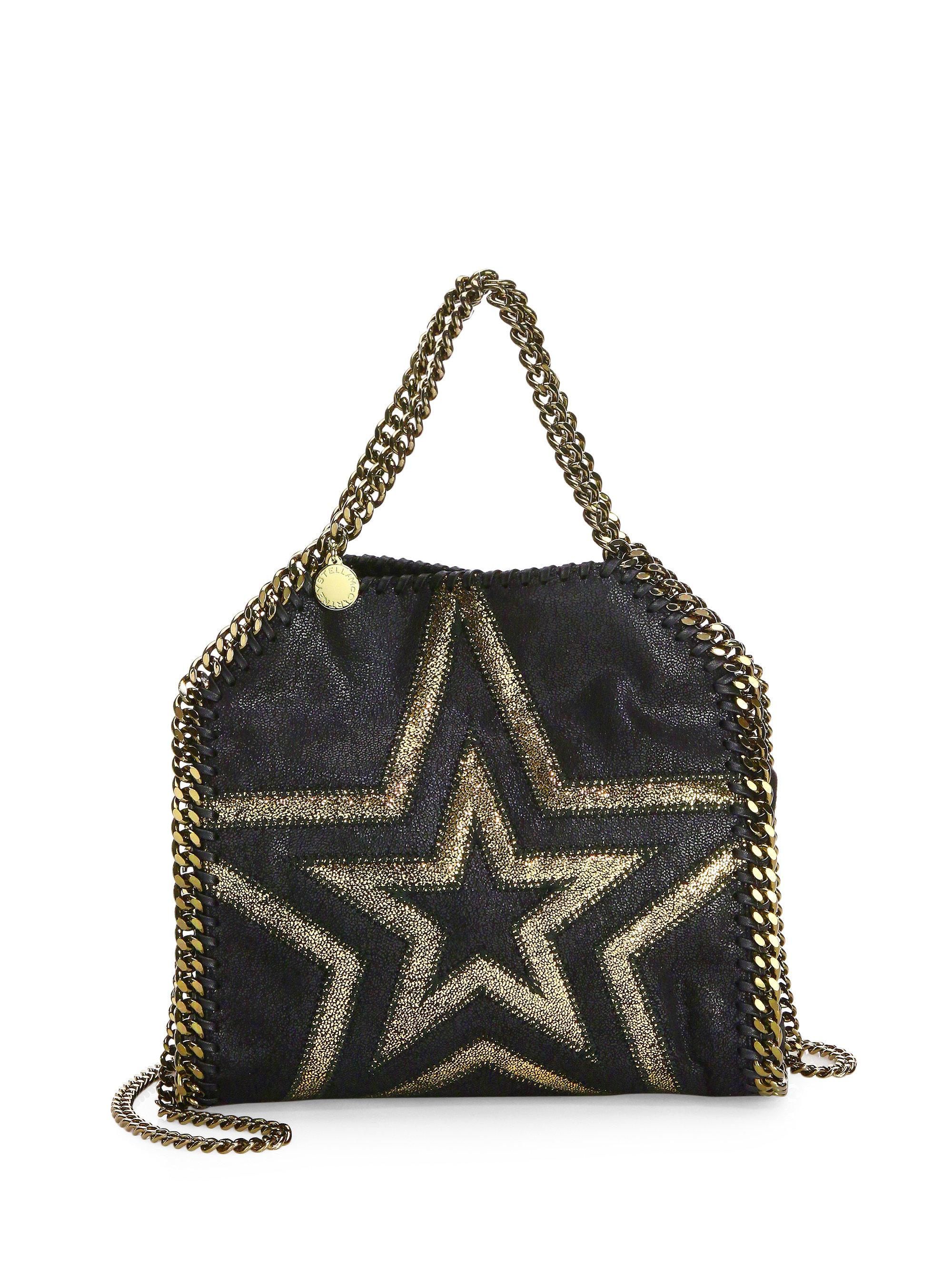 Lyst - Stella McCartney Shaggy Gradient Star Mini Bag in Black 8d5e482c3f2f6