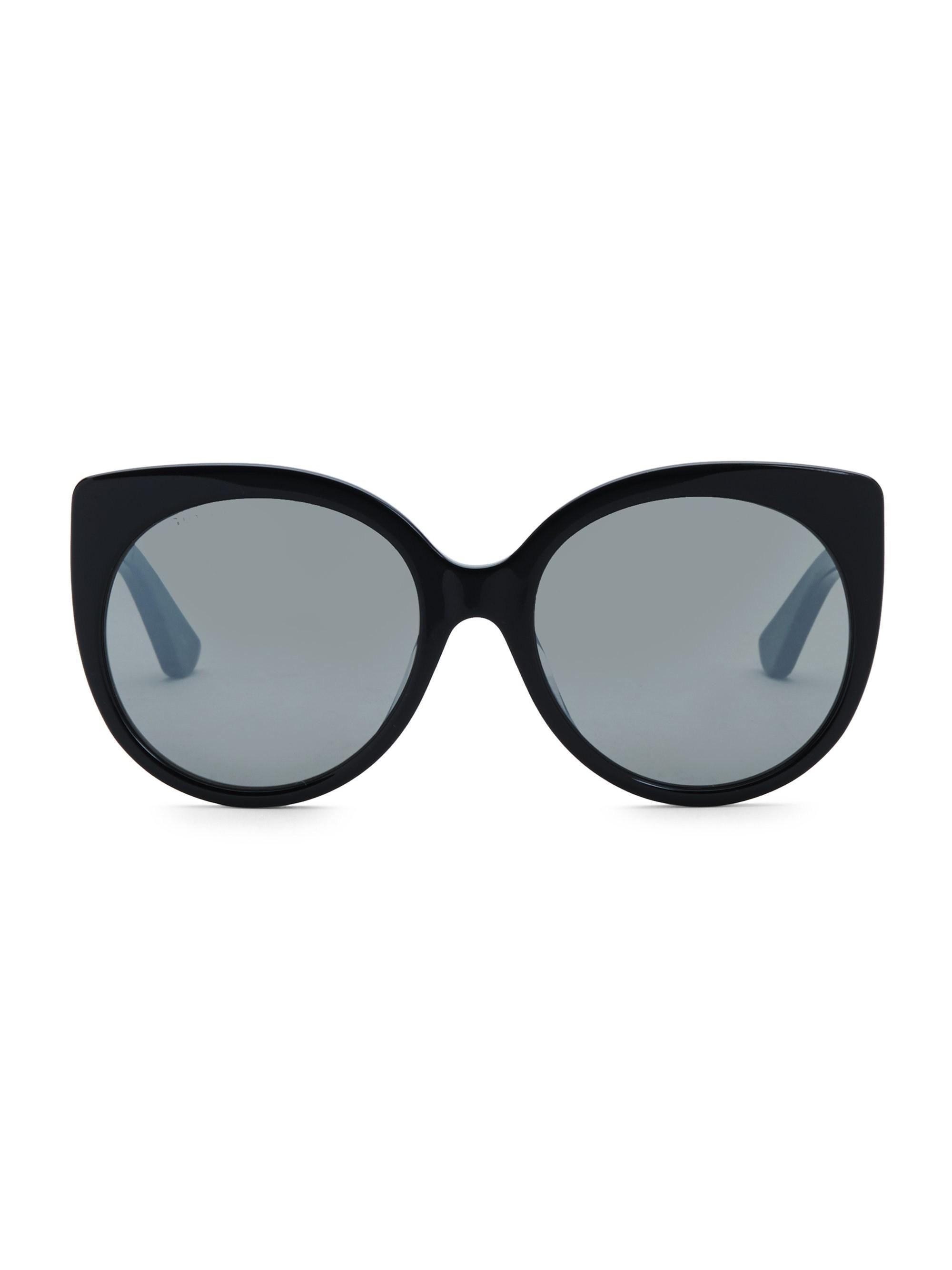 5f71a0d21a Gucci Urban 57mm Cat Eye Sunglasses in Black - Lyst
