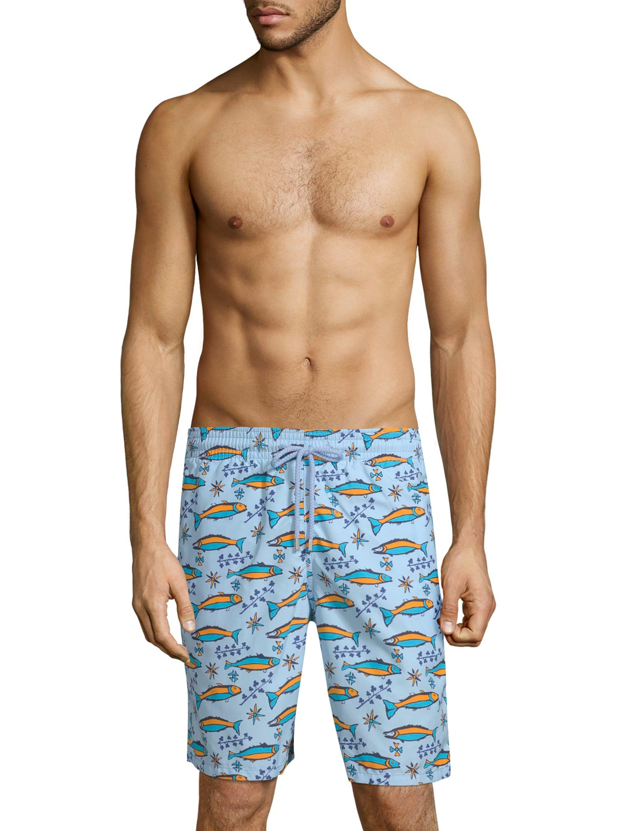 90301fe1e5 Lyst - Vilebrequin Sardine Print Swim Shorts in Blue for Men
