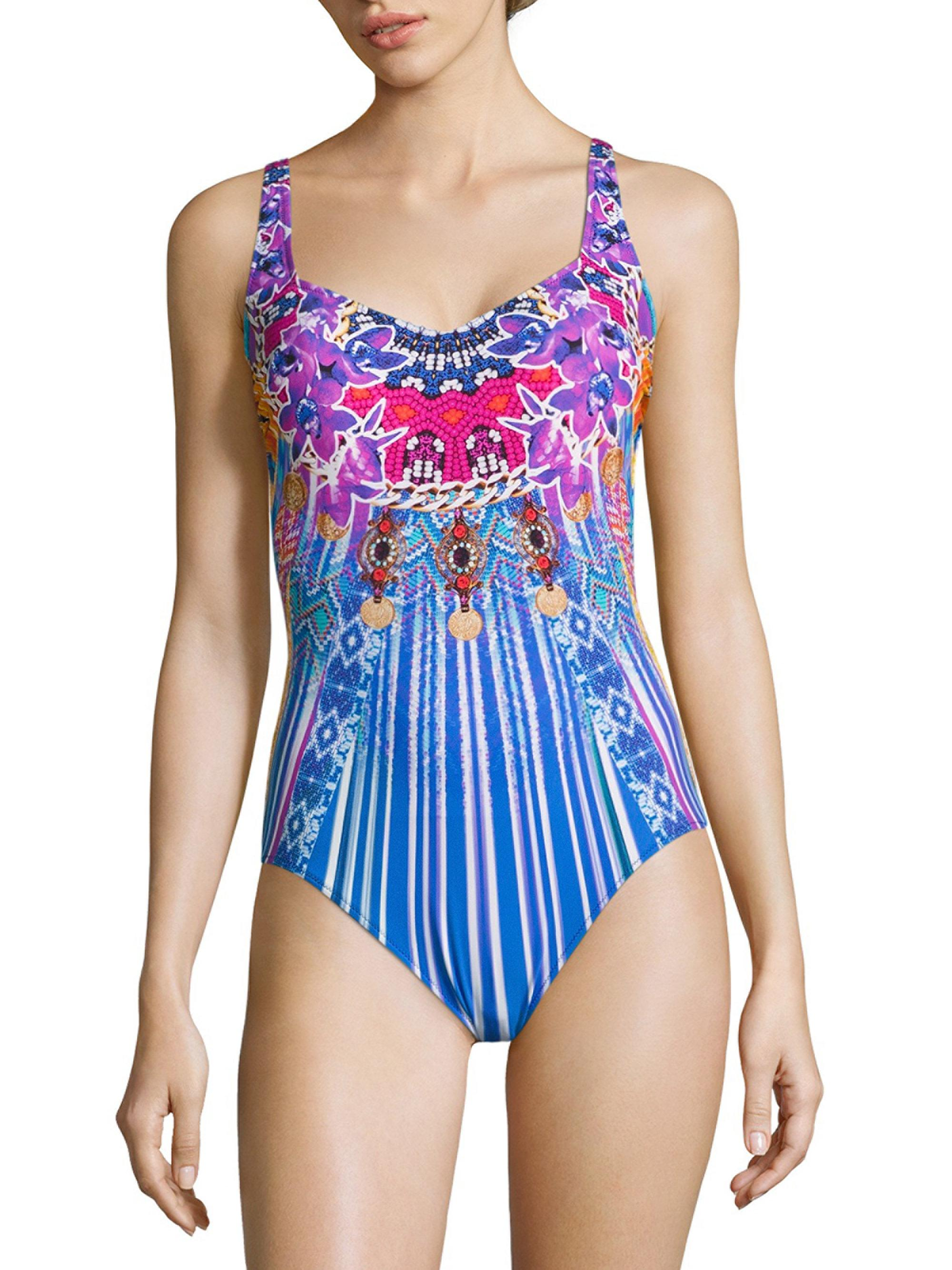 ecc444f03c531 Gottex One-piece Knitted Swimsuit in Blue - Lyst