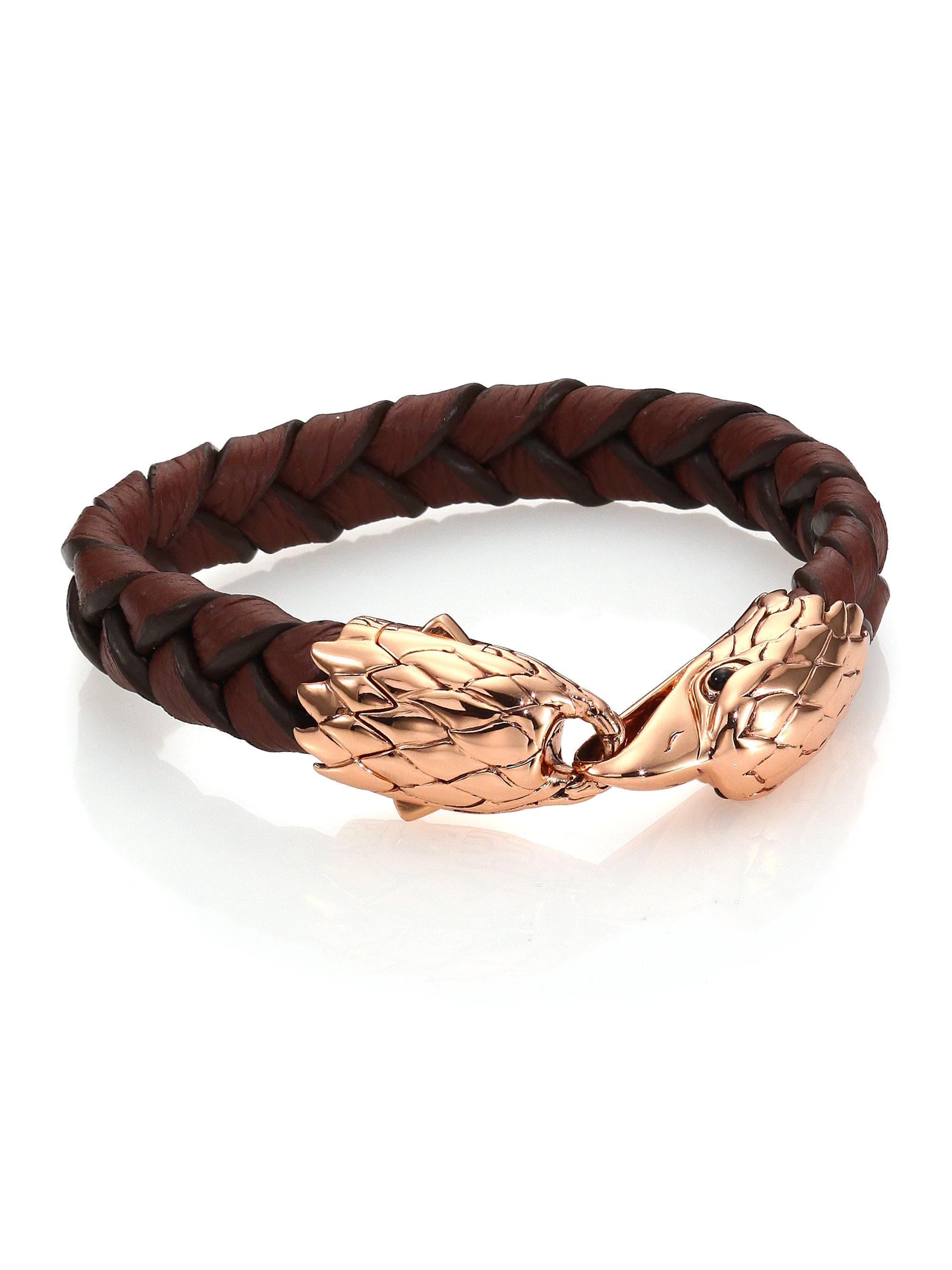 John Hardy Woven Bracelet, Brown