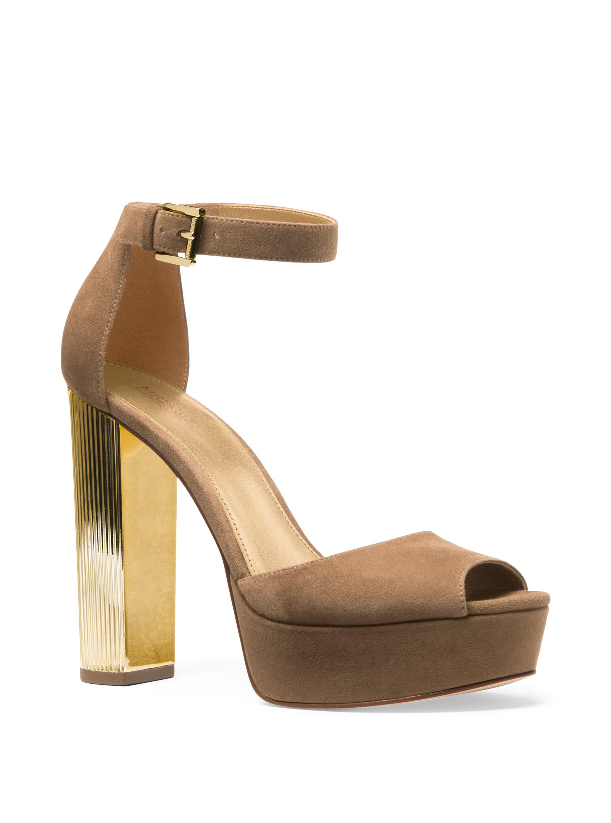 126146bc92a1 MICHAEL Michael Kors. Women s Natural Paloma Suede Platform Dress Sandals