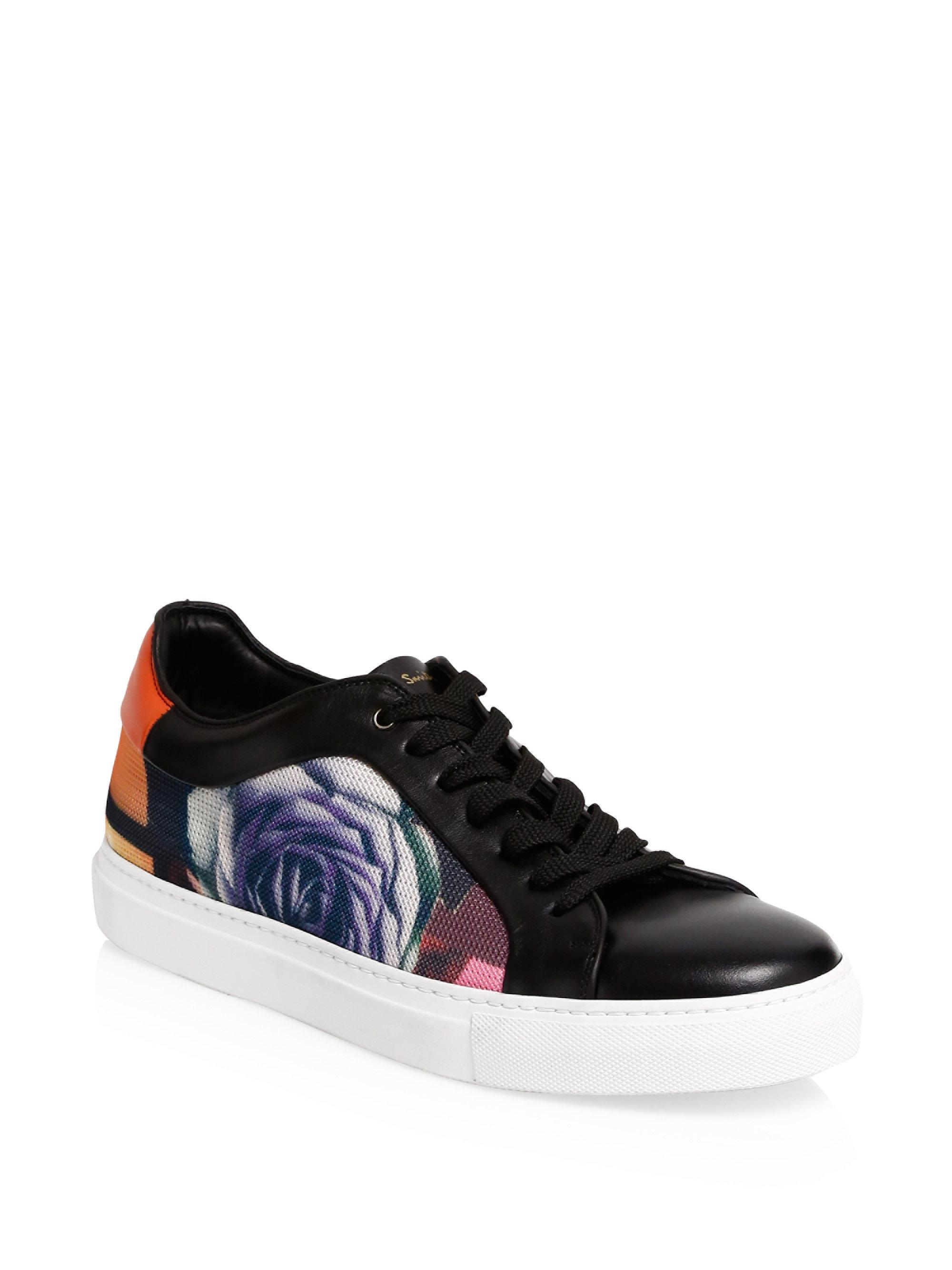 Paul SmithBasso Rose Leather Sneakers