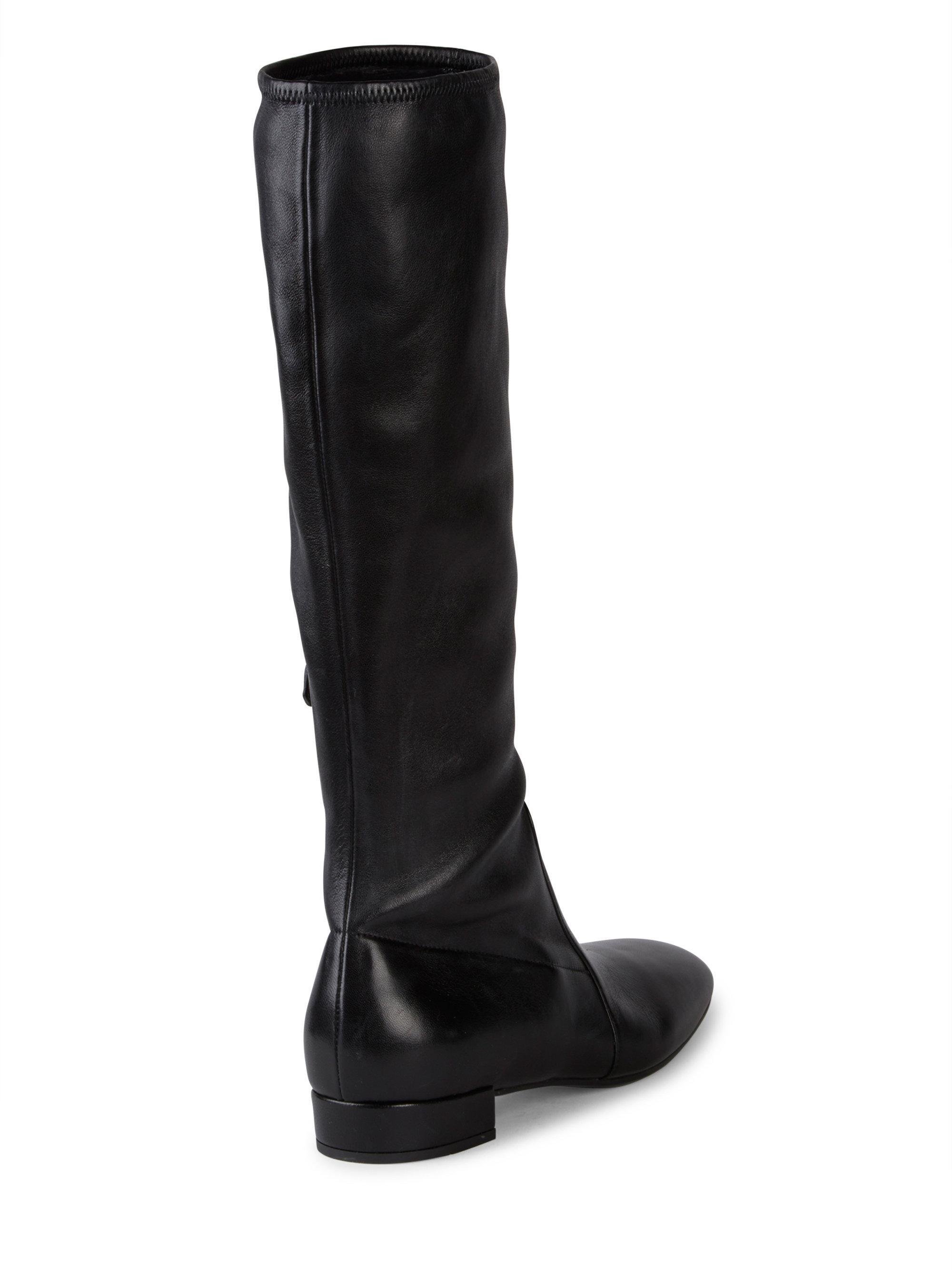 Prada Stretch Leather Tall Boots DdNBusMJ