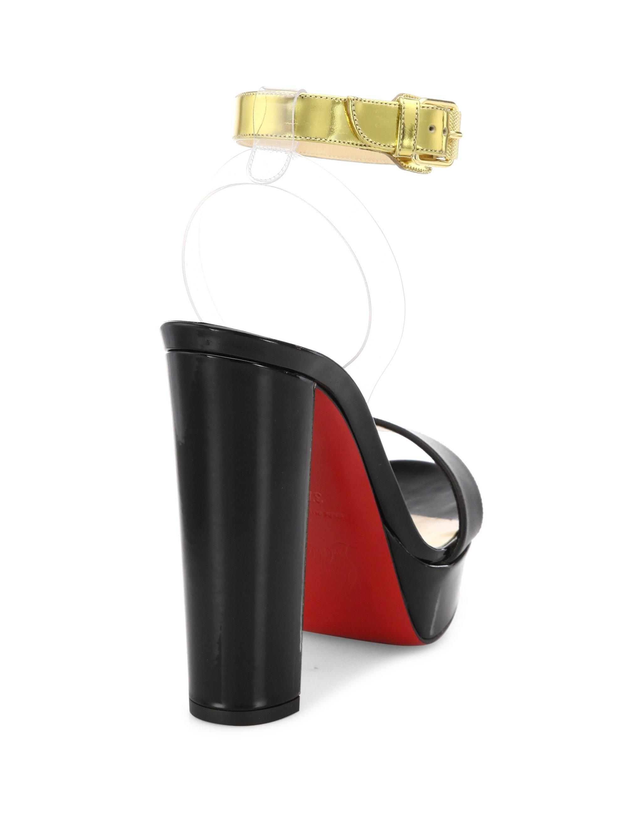 9bb353a64cc4 Lyst - Christian Louboutin Cherry Patent Leather   Pvc Ankle-strap ...