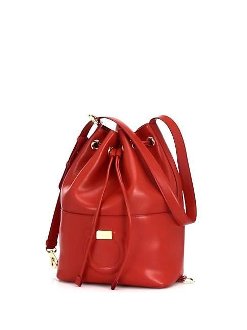 fa38123bba Lyst - Ferragamo Women s City Bucket Bag - Lipstick in Red