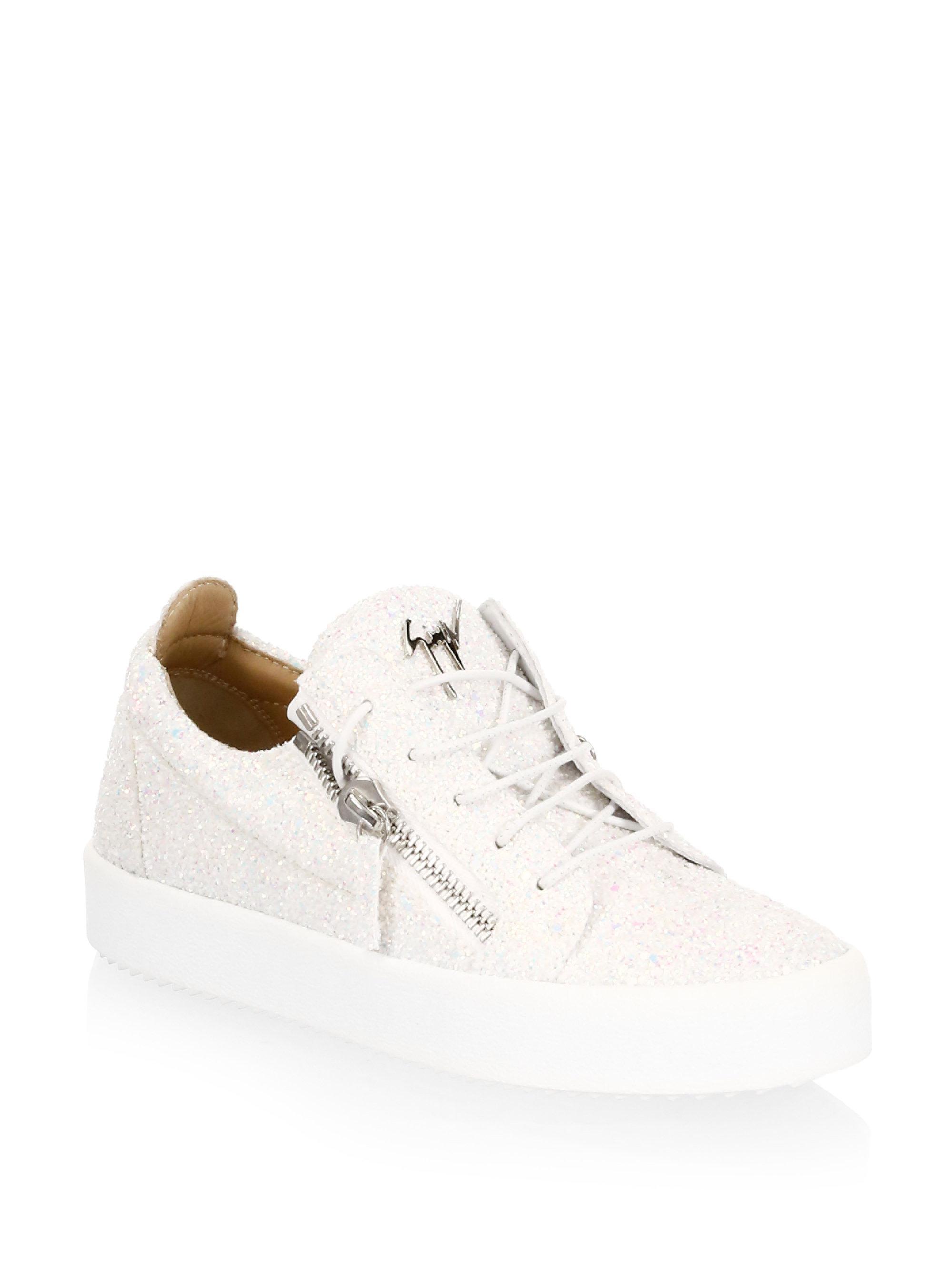 Giuseppe Zanotti May London Leather Fashion Sneakers HDZI7E1Wi