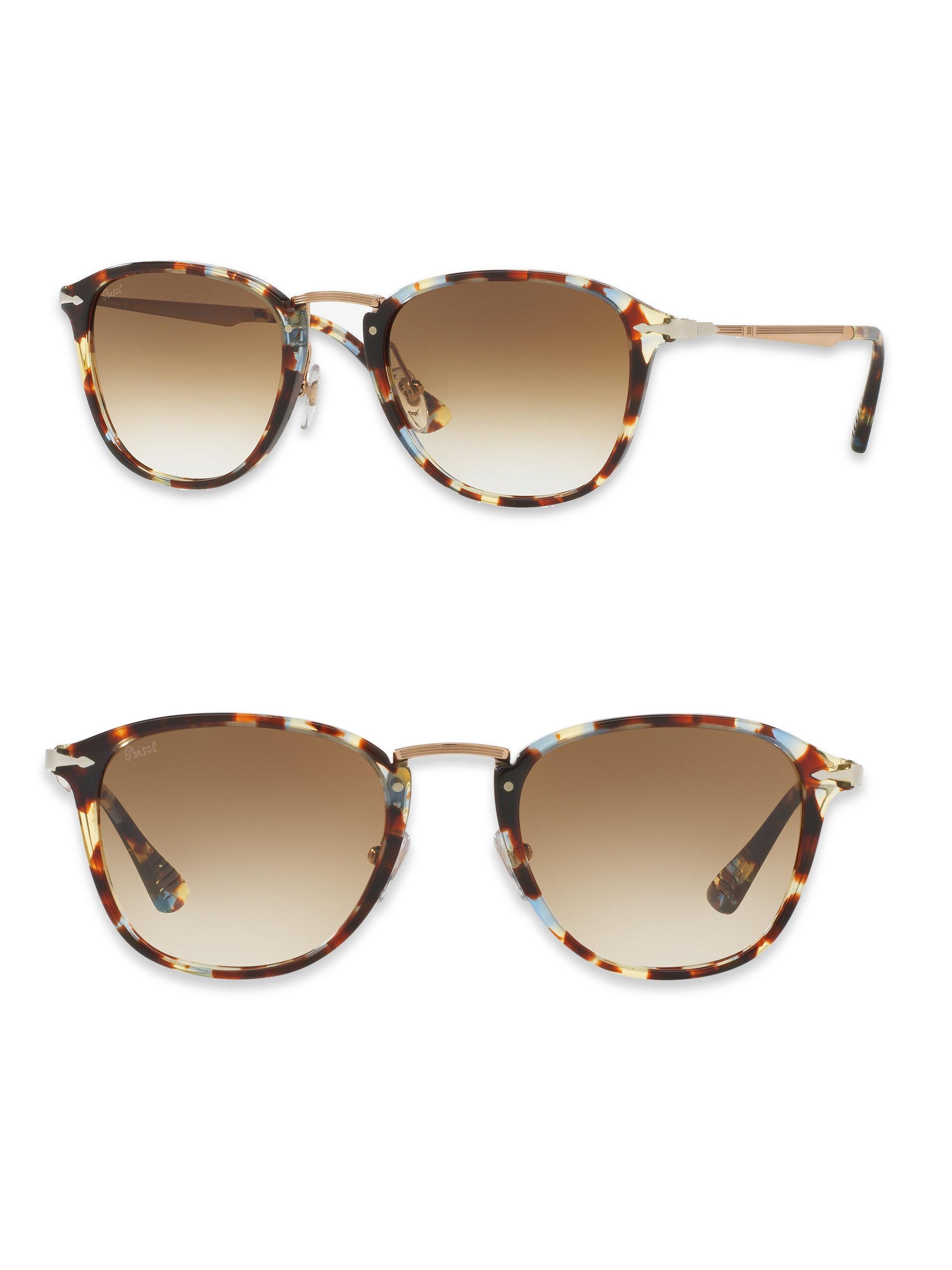 f278c012ec Lyst - Persol Calligrapher 52mm Square Sunglasses in Brown for Men
