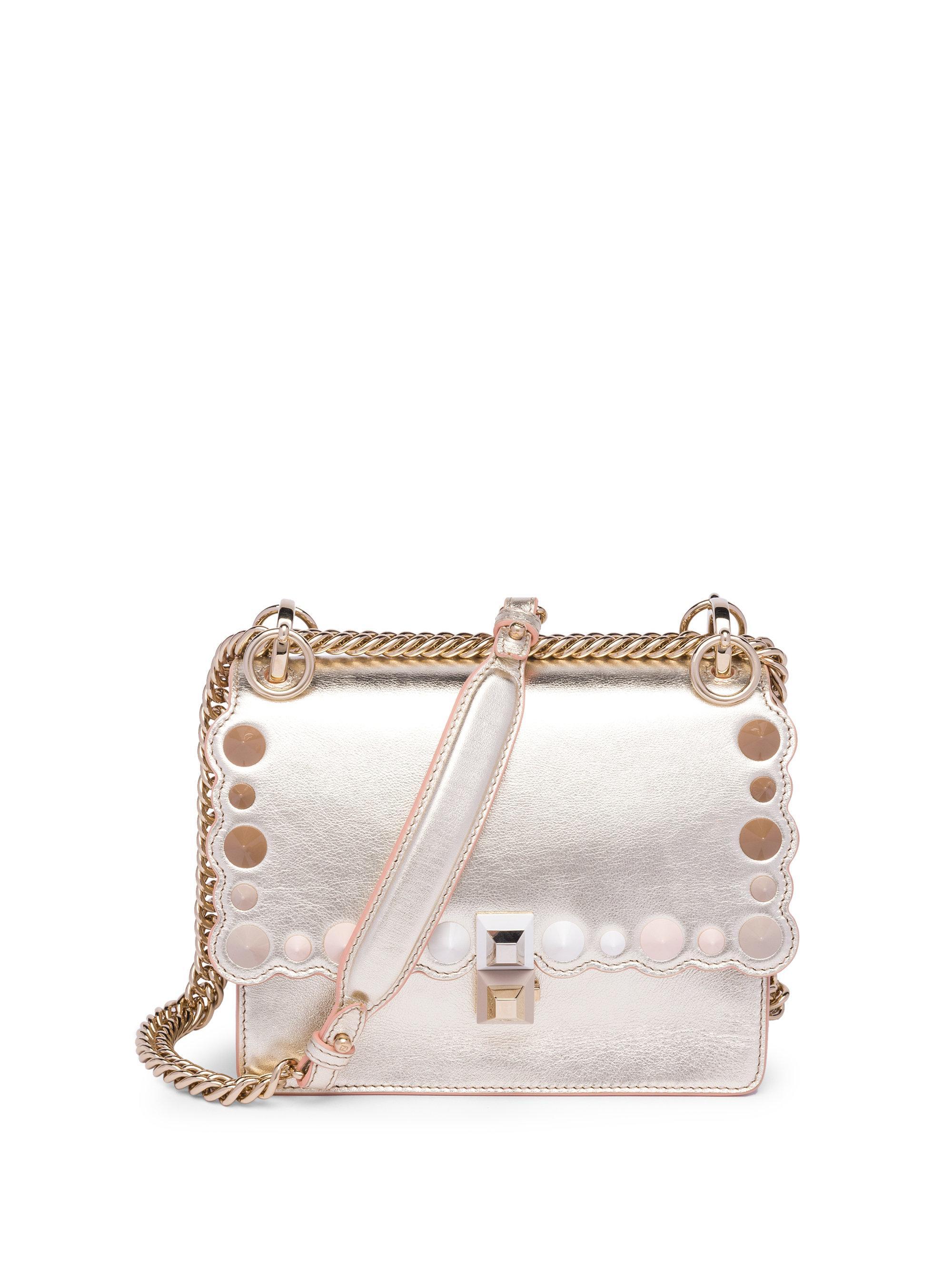 b42ce7c8c20d Fendi. Women s Mini Metallic Kan Bag