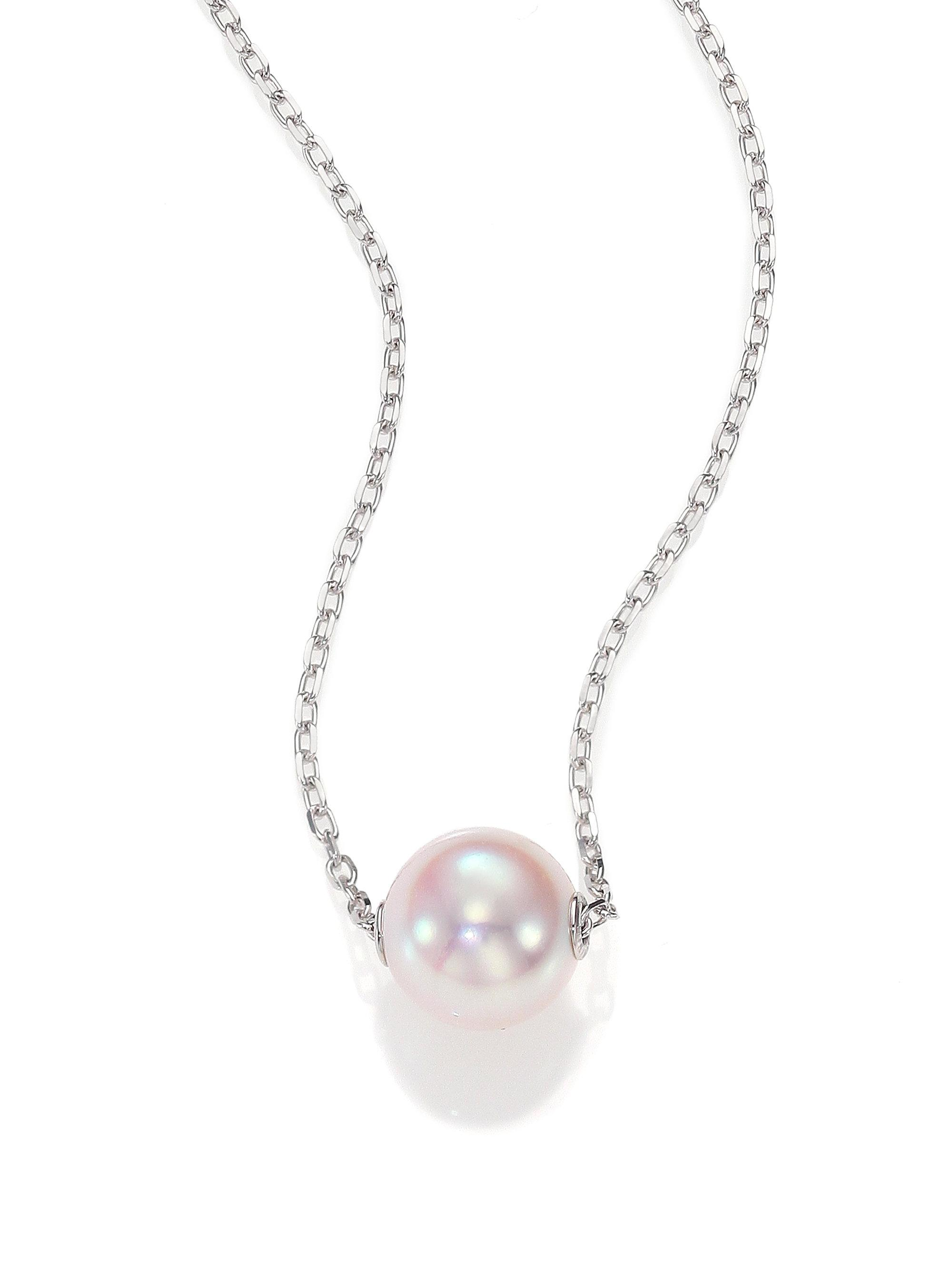 items pendant charitybuzz bid necklace mikimoto of catalog original live pearl magnificent diamonds and detail