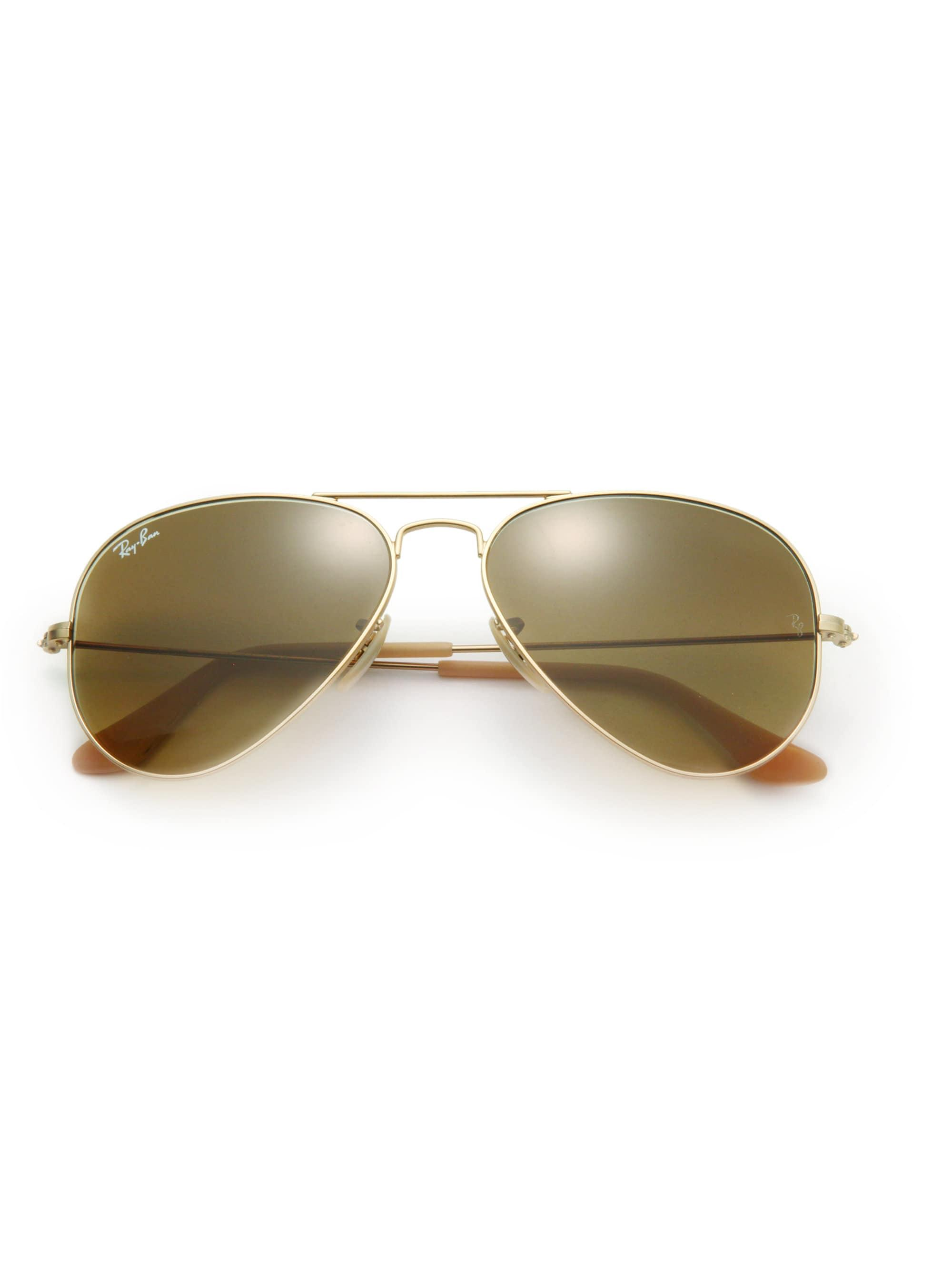 Lyst - Ray-Ban Women s 58mm Original Aviator Sunglasses - Light Gold ... 9fb37a320