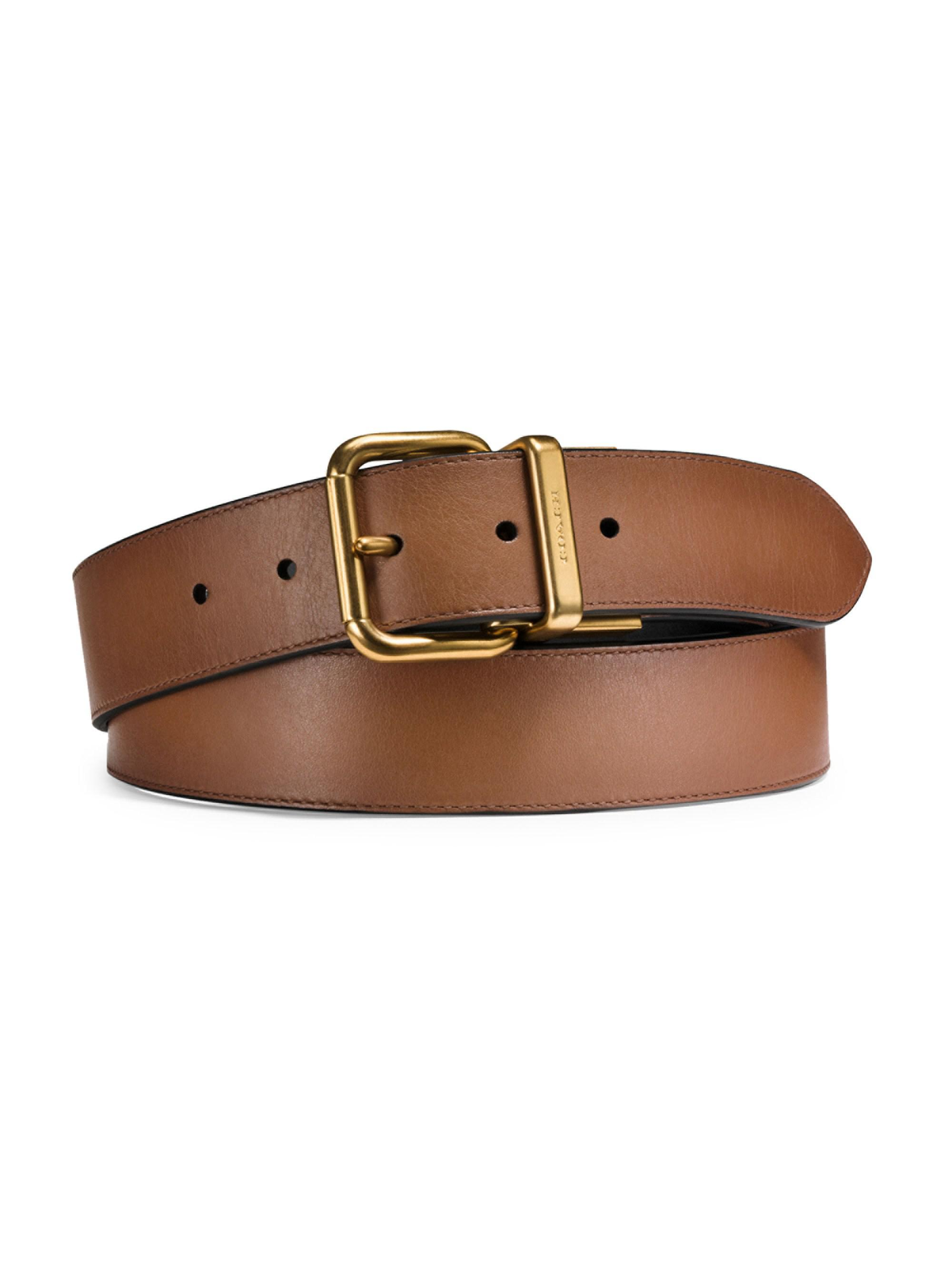 ee70ace95d8c Coach Reversible Leather Belt in Brown for Men - Lyst