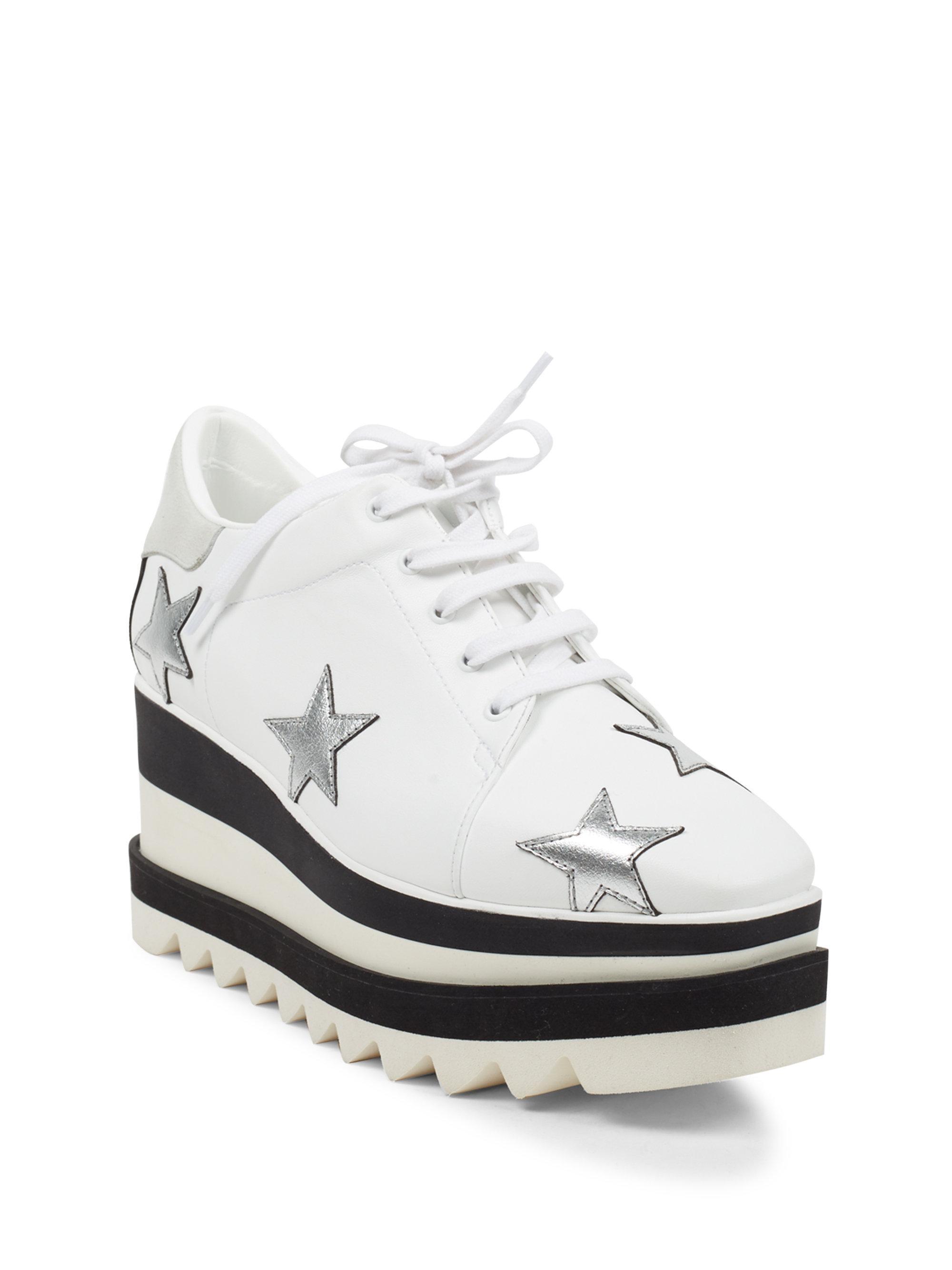 Stella McCartney Star Embroidered Sneaker Wedges rroItt6ha