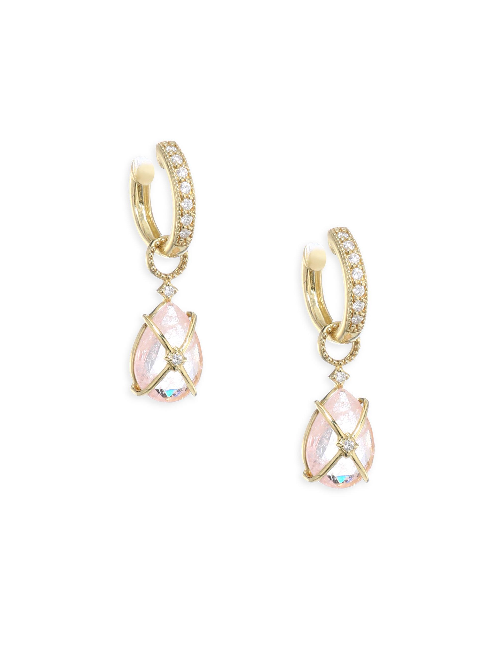 Jude Frances Wrapped Turquoise Earring Charms with Diamonds LoseH